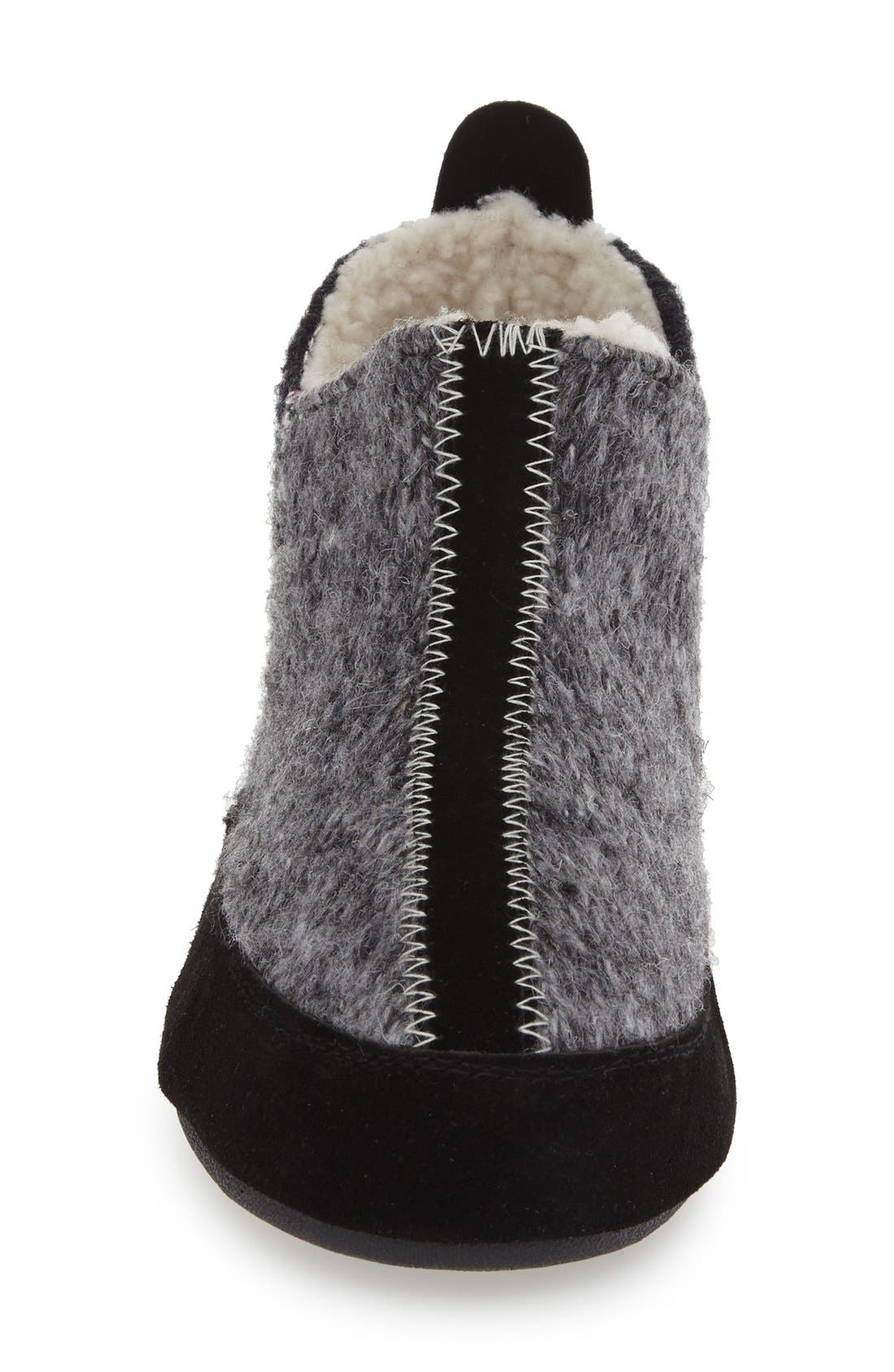 ACORN, 'Forest' Bootie Slipper, Alternate thumbnail 3, color, GREY WOOL
