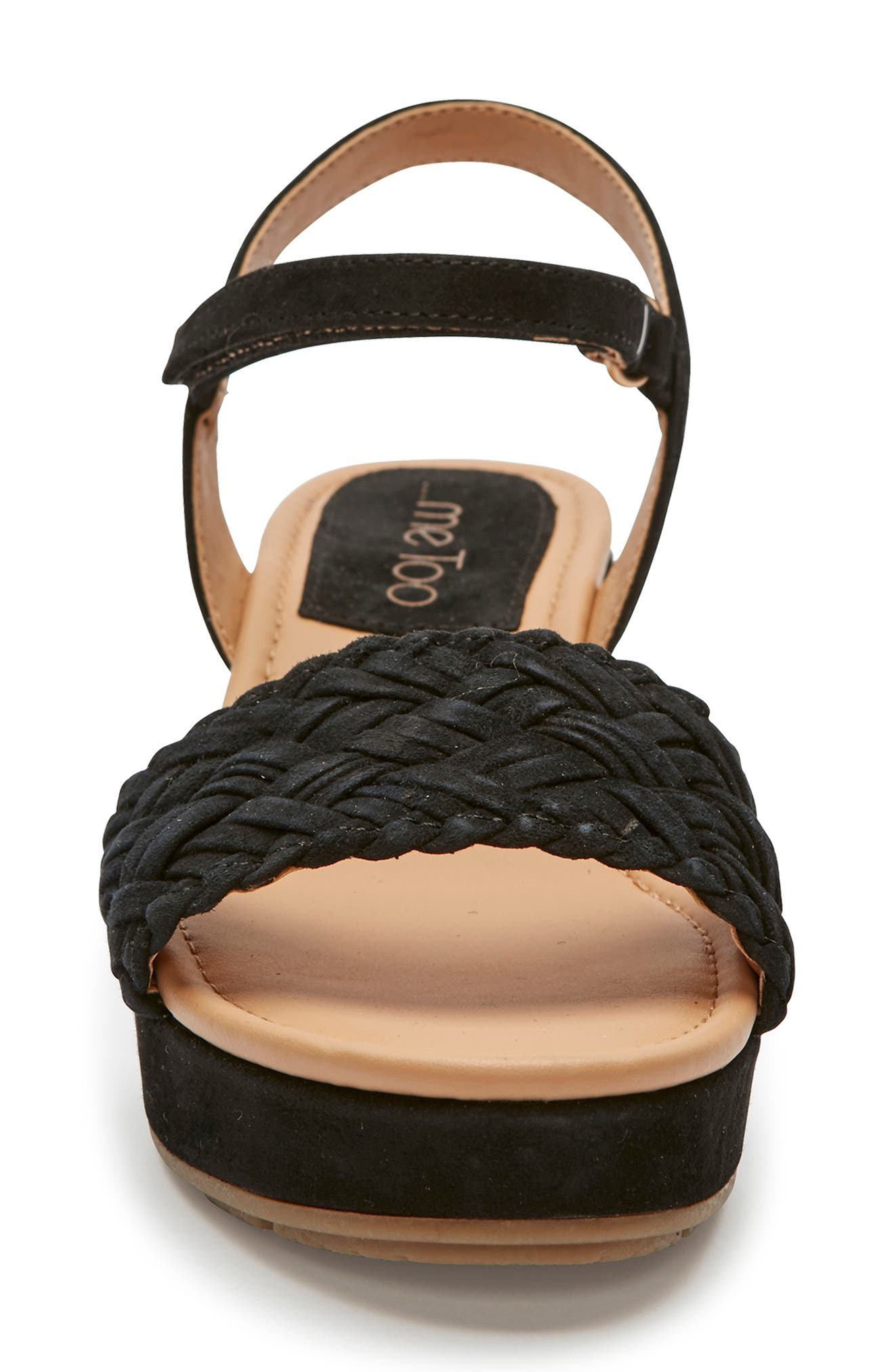 ME TOO, Abella Wedge Sandal, Alternate thumbnail 4, color, BLACK SUEDE