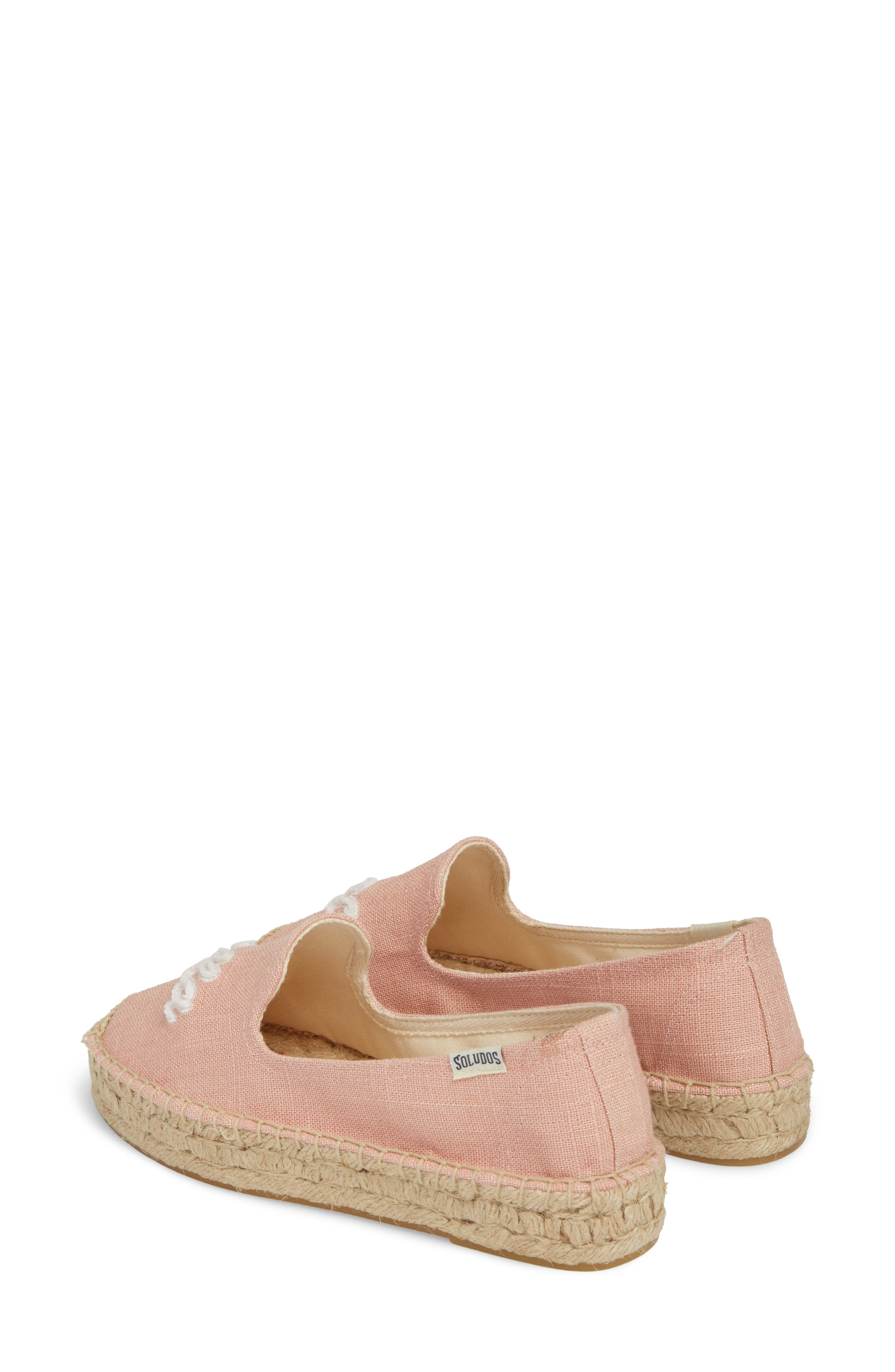 SOLUDOS, Ciao Bella Espadrille Flat, Alternate thumbnail 3, color, DUSTY ROSE FABRIC