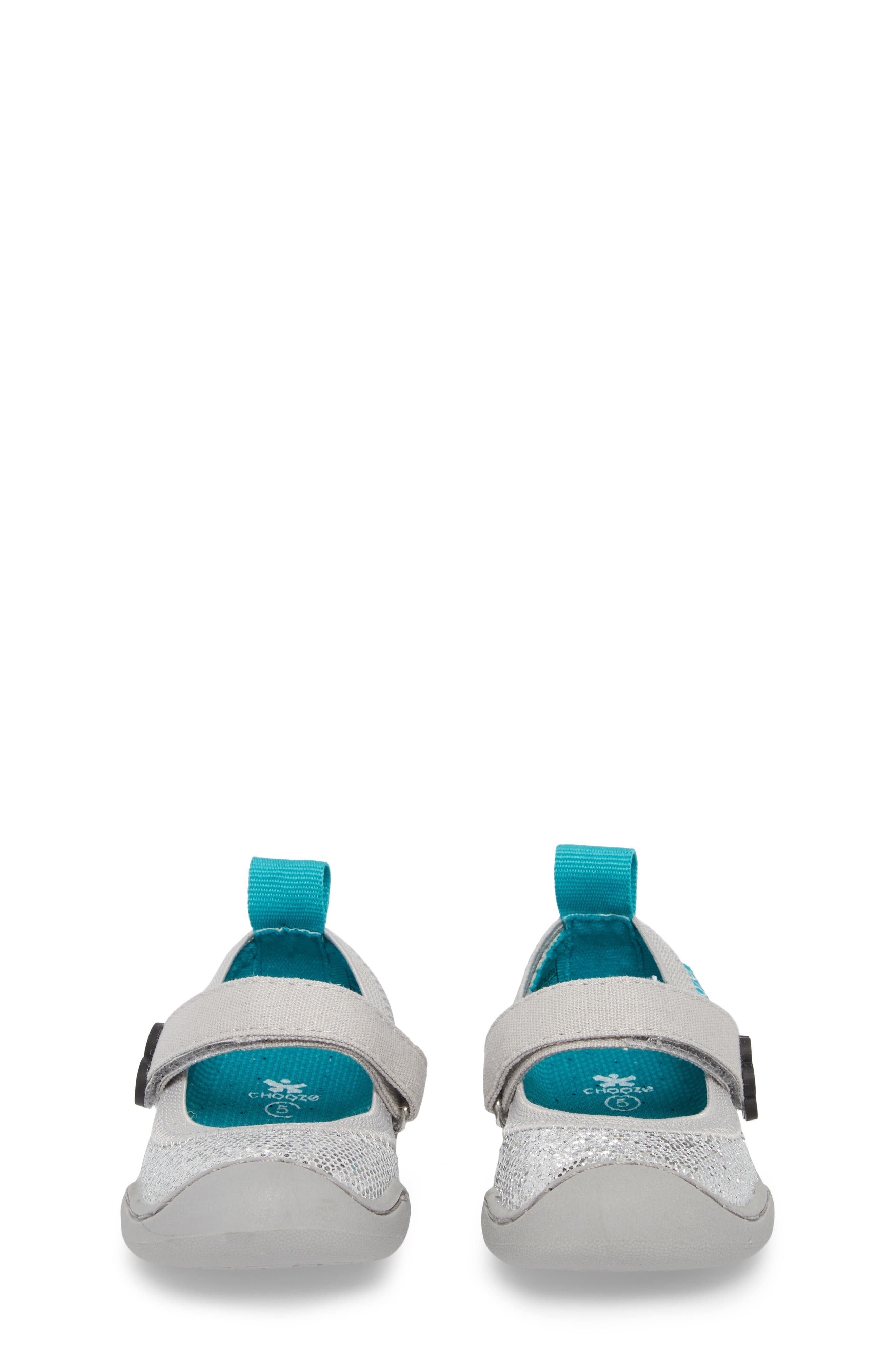CHOOZE, Steady Shimmer Mary Jane Sneaker, Alternate thumbnail 5, color, GLOW PLATINUM
