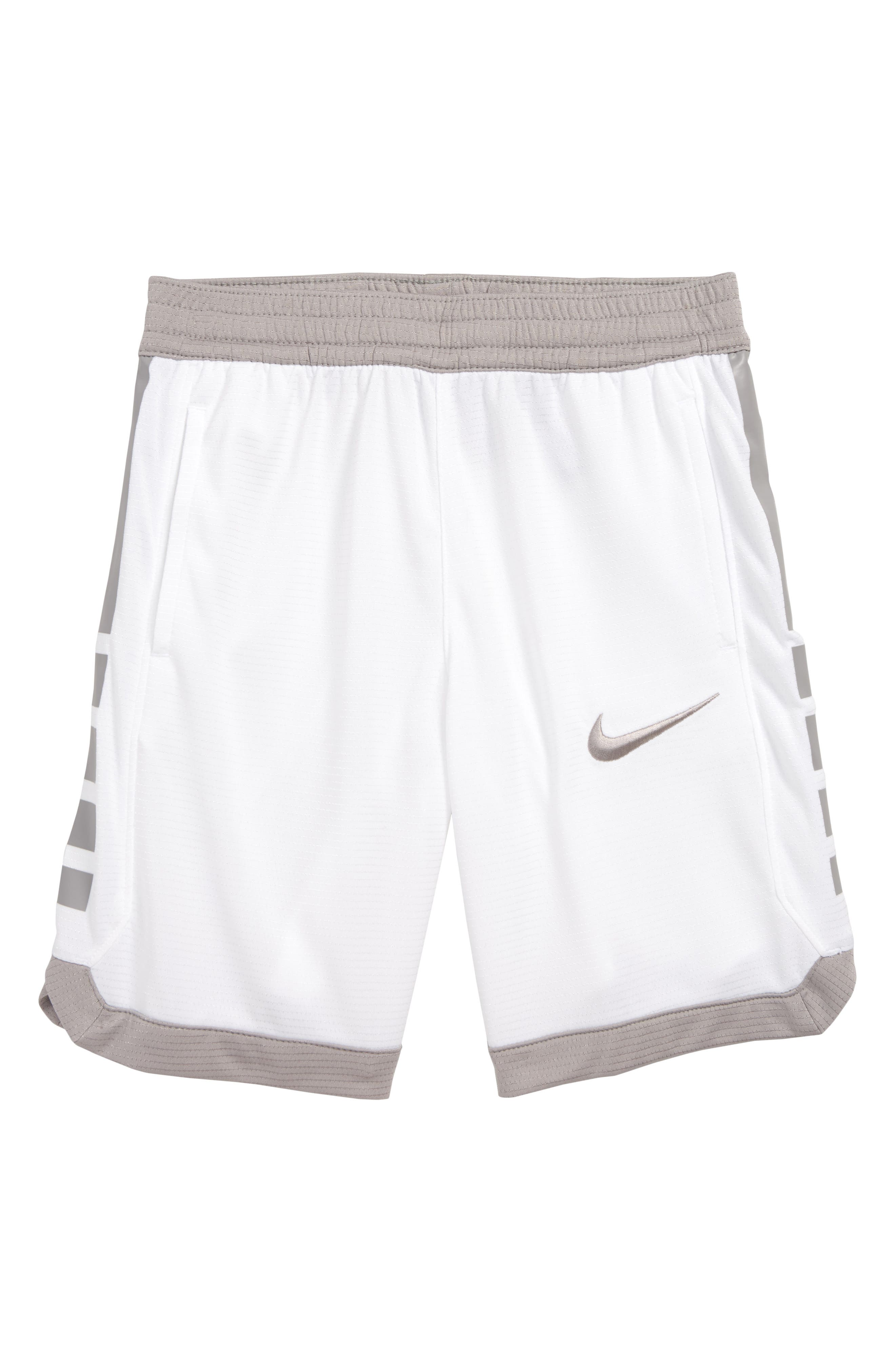 Boys Nike Dry Elite Stripe Athletic Shorts Size 4  White