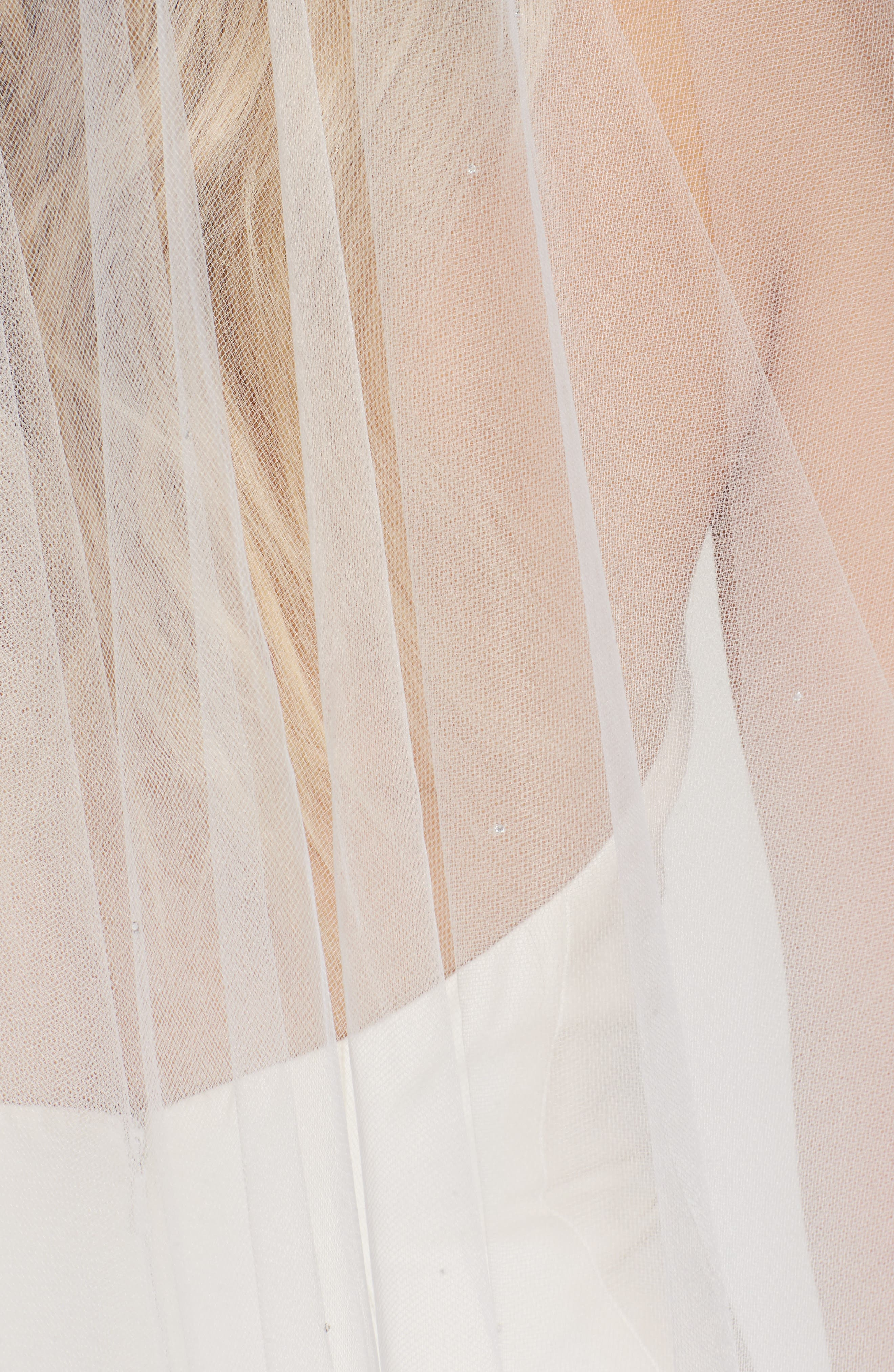 WEDDING BELLES NEW YORK, 'Madeline - Crystal' Two Tier Veil, Alternate thumbnail 2, color, 101