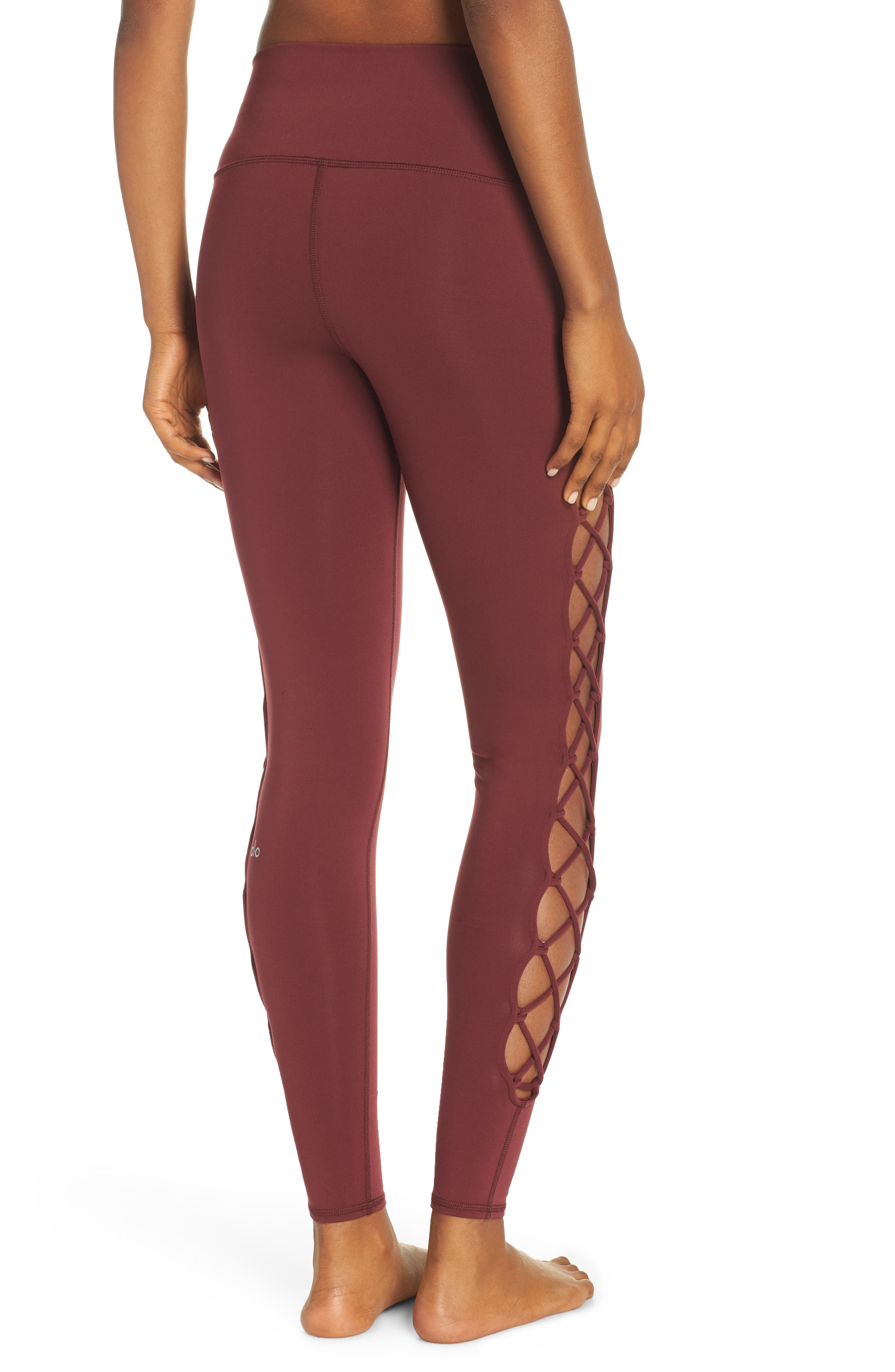 ALO, Interlace Leggings, Alternate thumbnail 2, color, 936