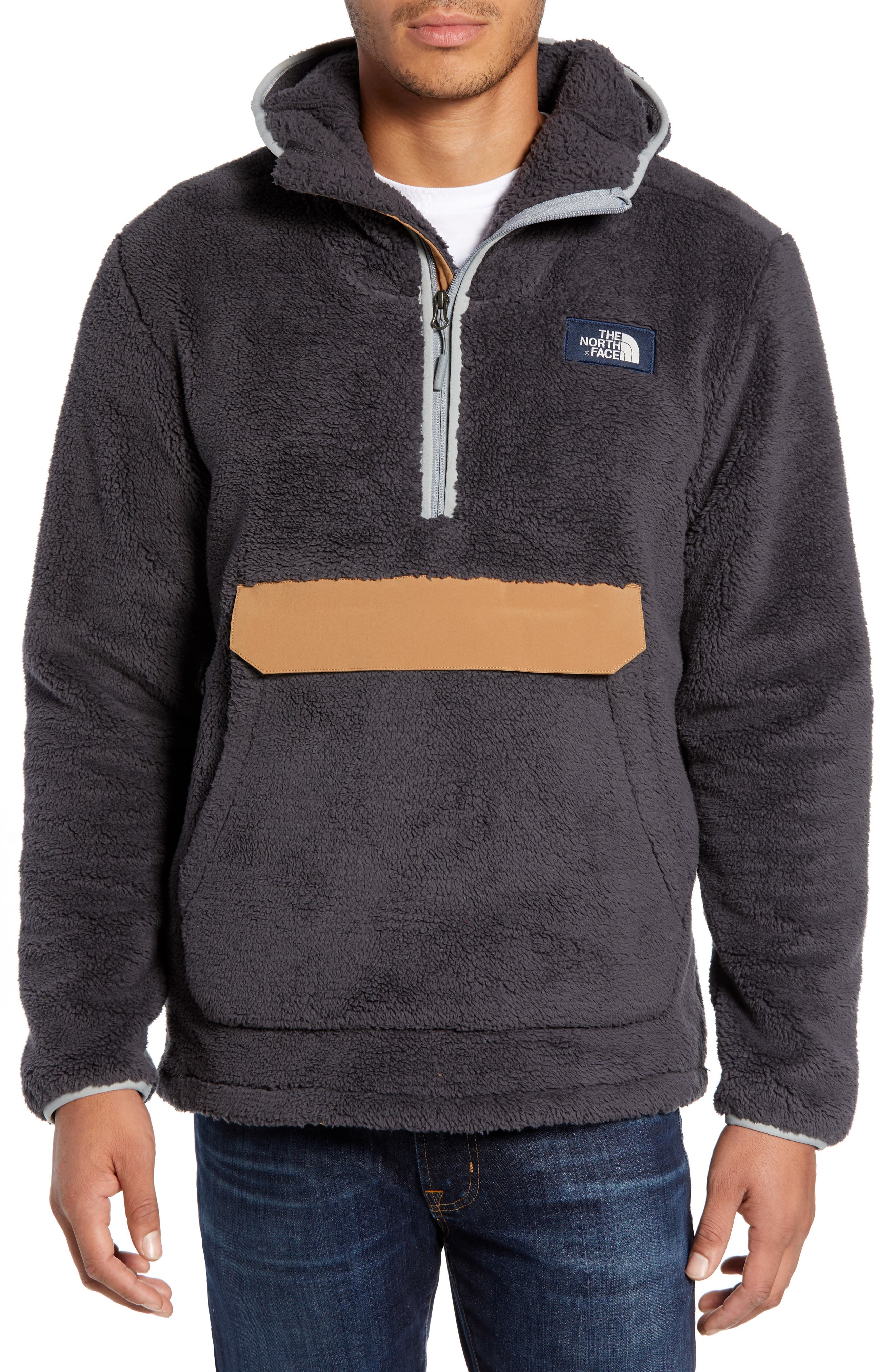 THE NORTH FACE, Campshire Anorak Fleece Jacket, Main thumbnail 1, color, 001