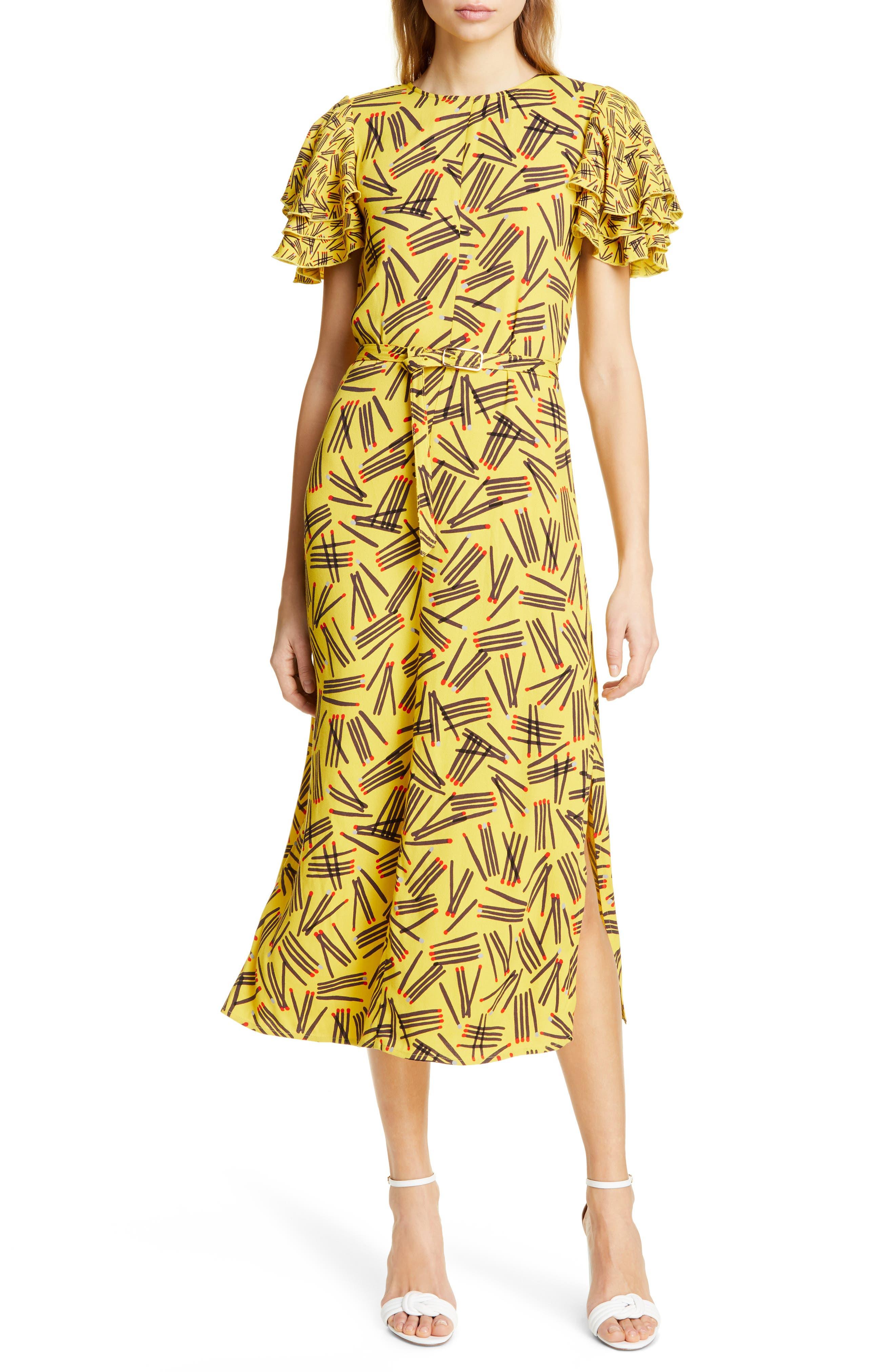 Kate Spade New York Matches Midi Dress, Yellow