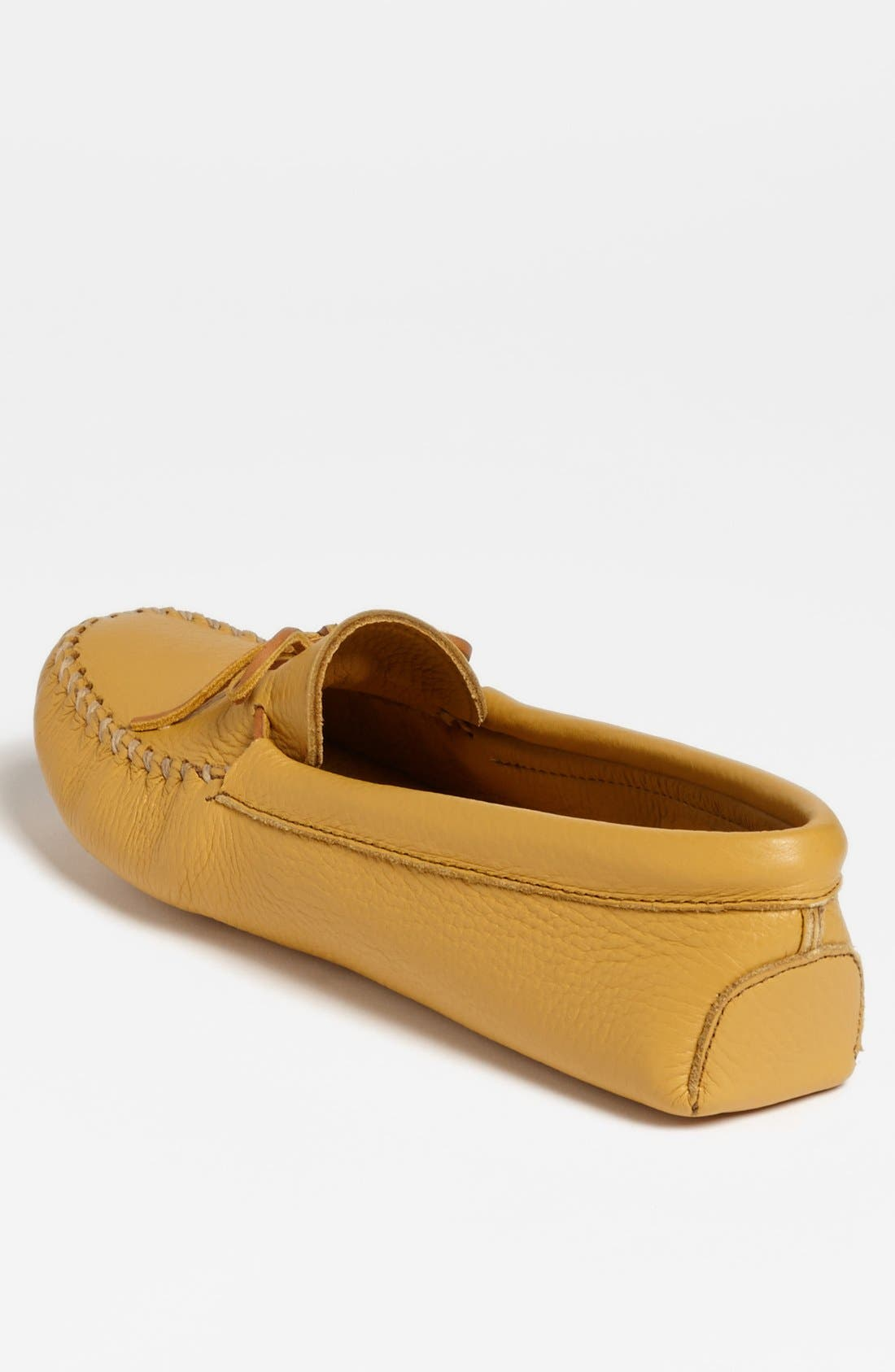MINNETONKA, Deerskin Moccasin, Alternate thumbnail 2, color, NATURAL DEERSKIN