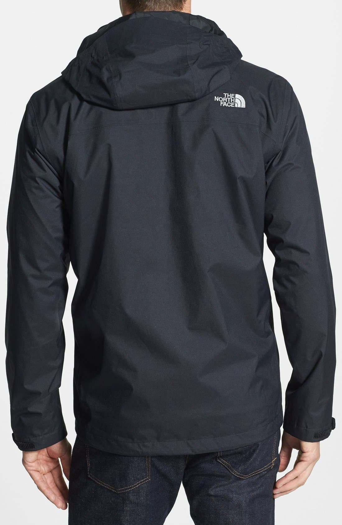 THE NORTH FACE, 'Momentum TriClimate' 3-in-1 Waterproof Hooded Jacket, Alternate thumbnail 2, color, 001