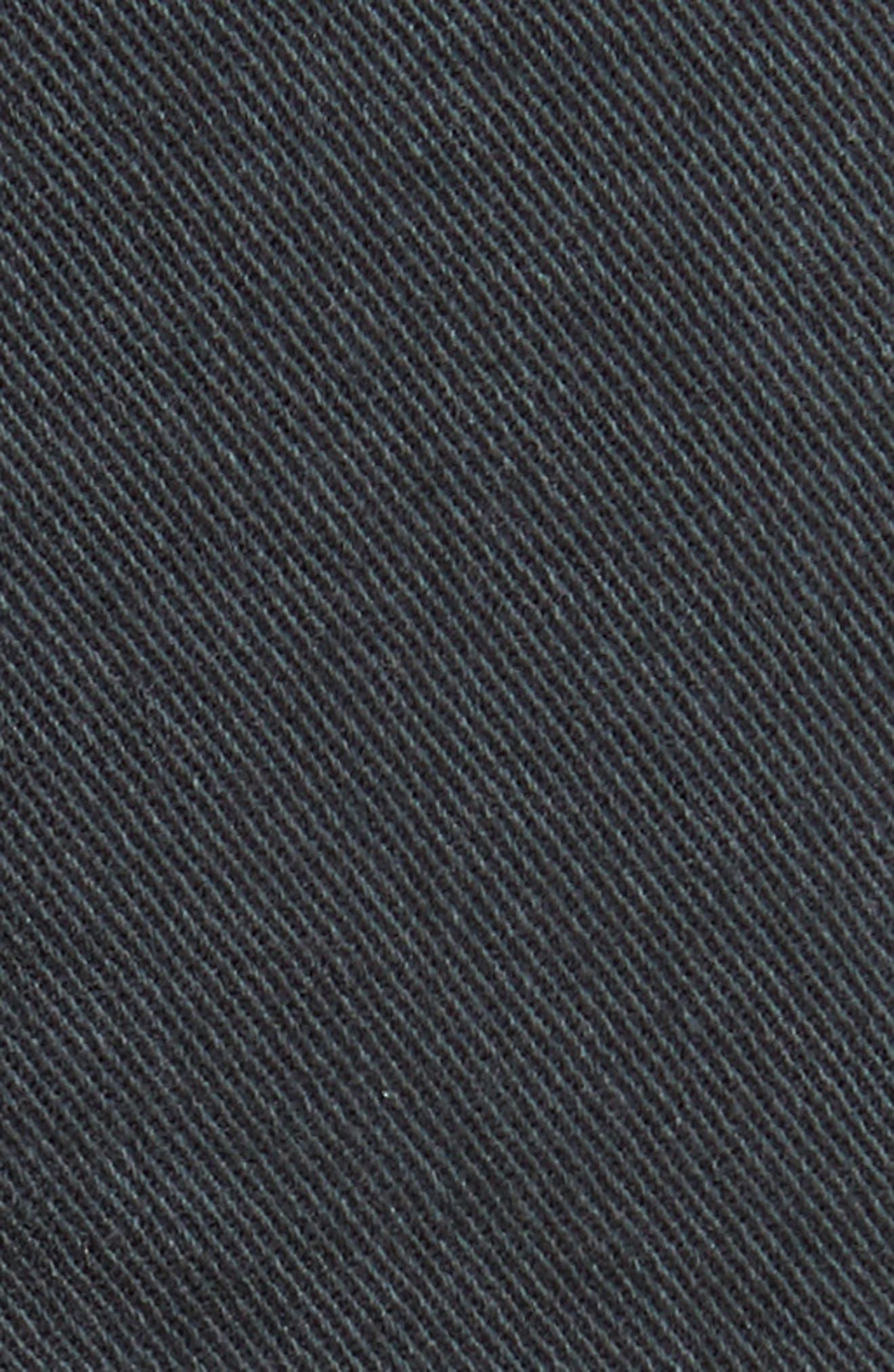 NILI LOTAN, Stretch Cotton Twill Crop Military Pants, Alternate thumbnail 6, color, CARBON