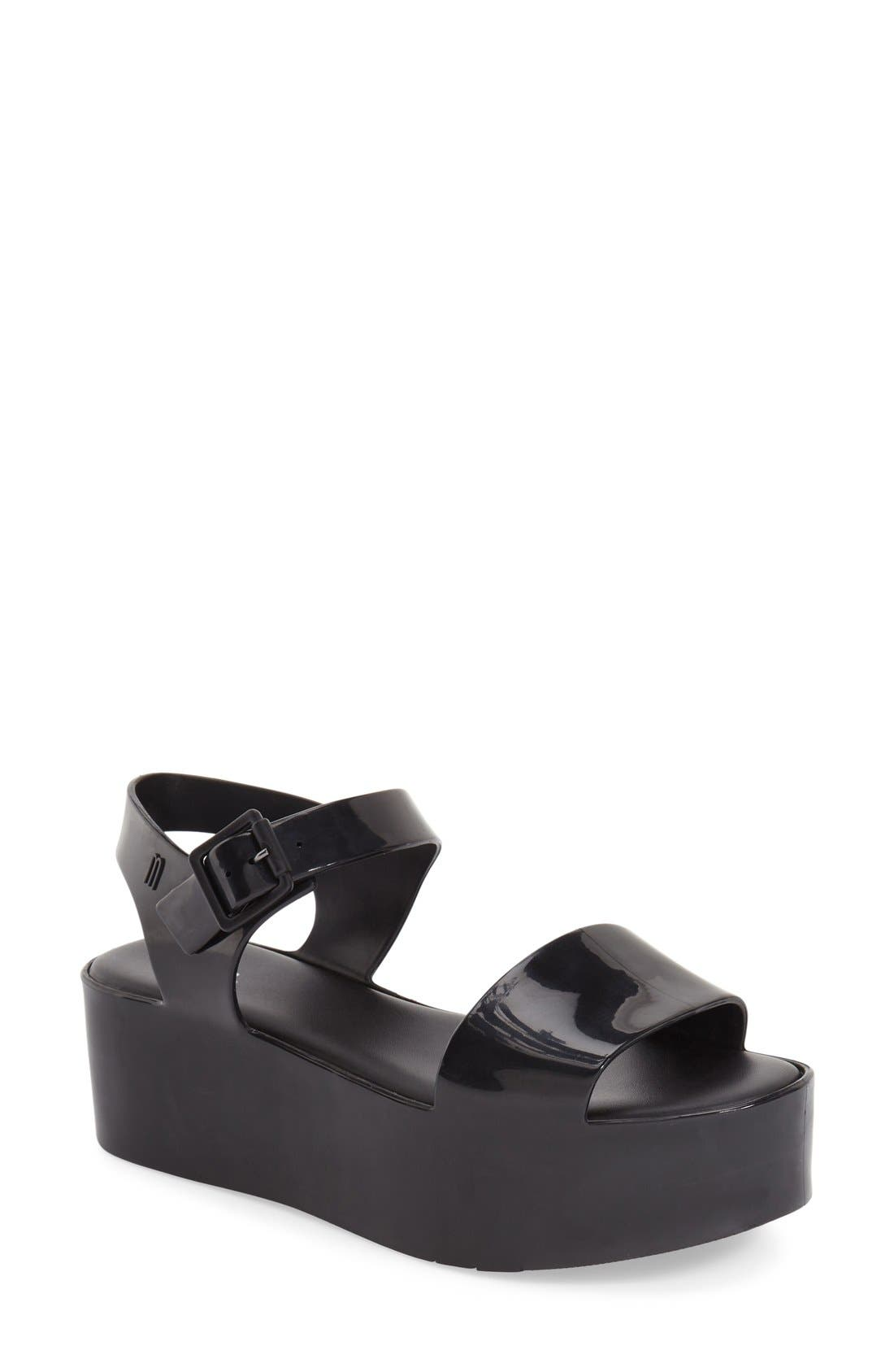 MELISSA, 'Mar' Platform Sandal, Main thumbnail 1, color, 001