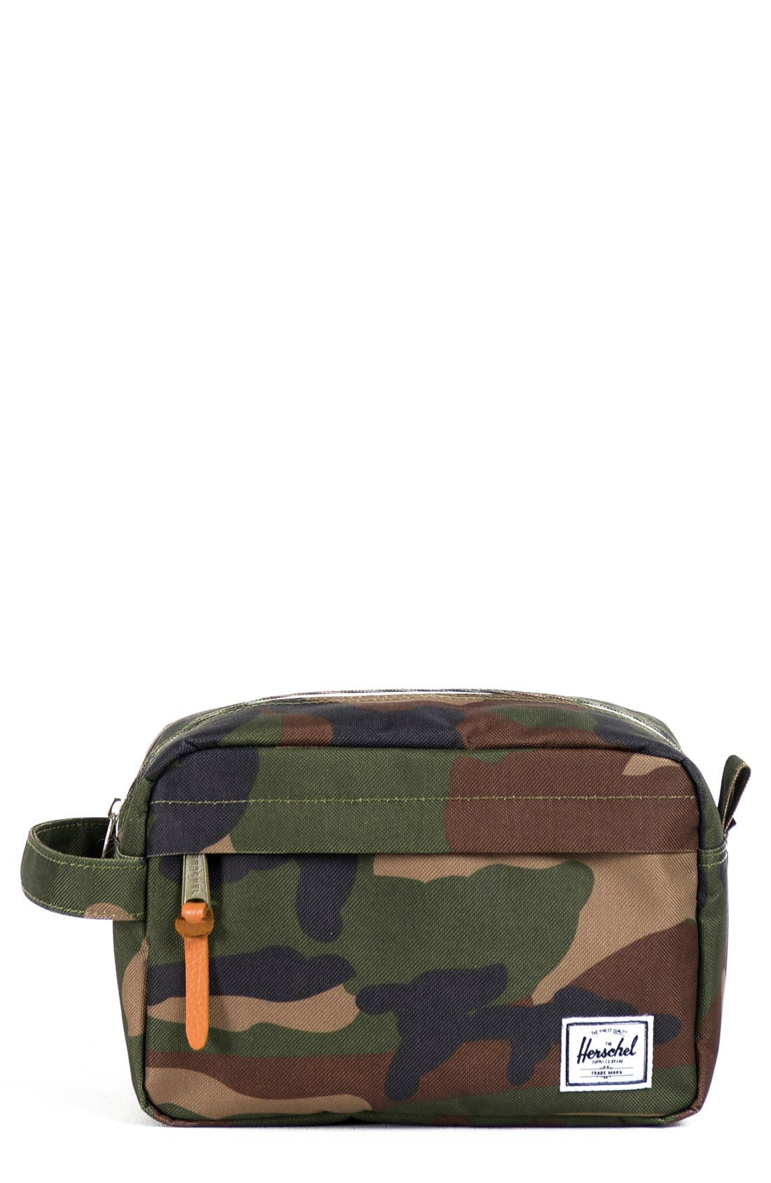 HERSCHEL SUPPLY CO., Chapter Toiletry Case, Main thumbnail 1, color, WOODLAND CAMO