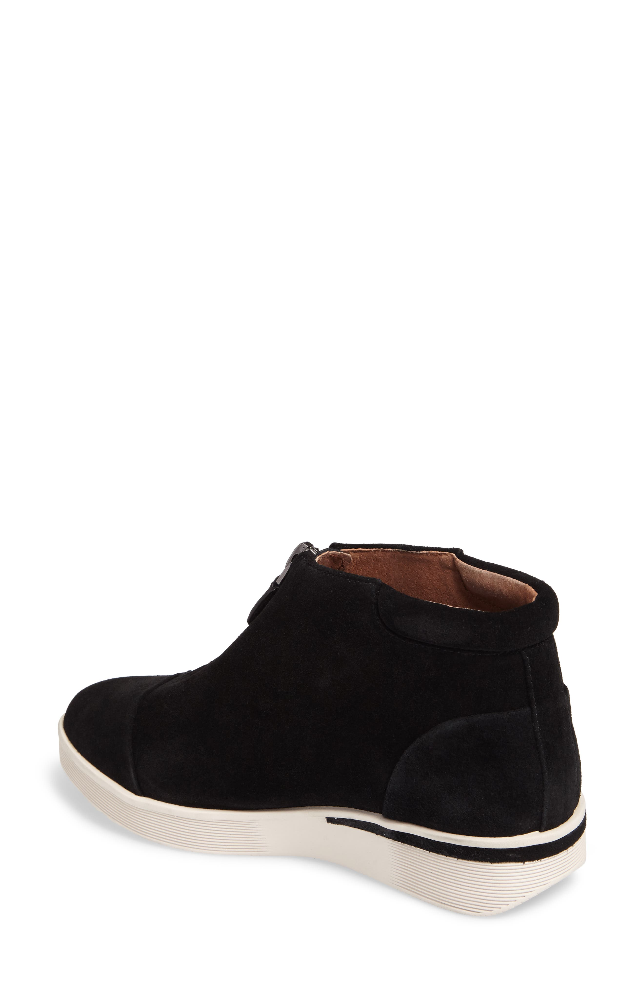 GENTLE SOULS BY KENNETH COLE, Hazel Fay High Top Sneaker, Alternate thumbnail 2, color, BLACK SUEDE