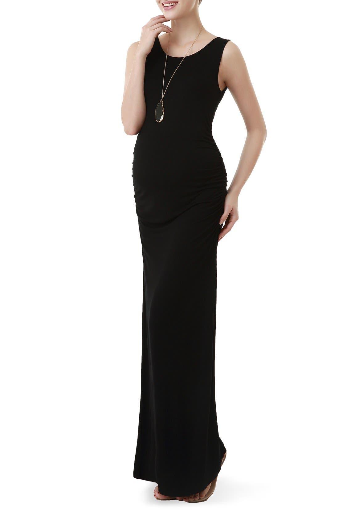 Kimi And Kai Maternity Maxi Tank Dress, Black