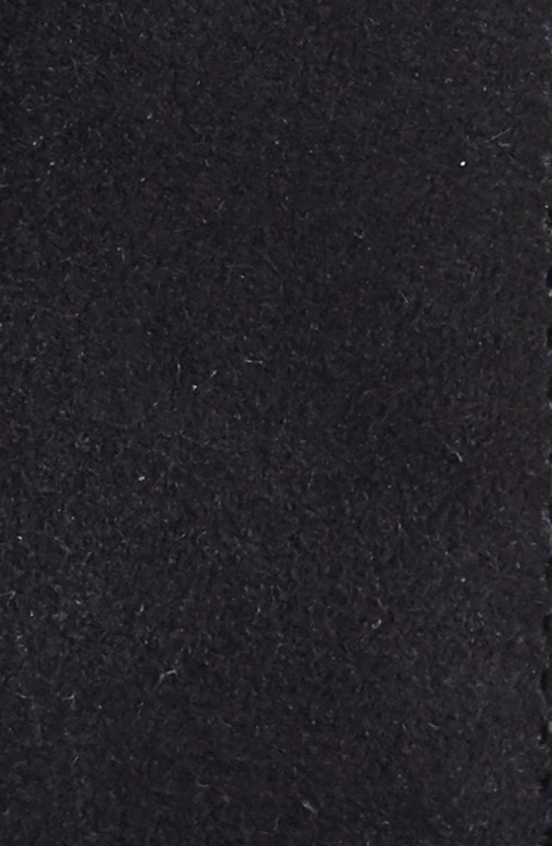 TORINO, Suede Belt, Alternate thumbnail 3, color, BLACK