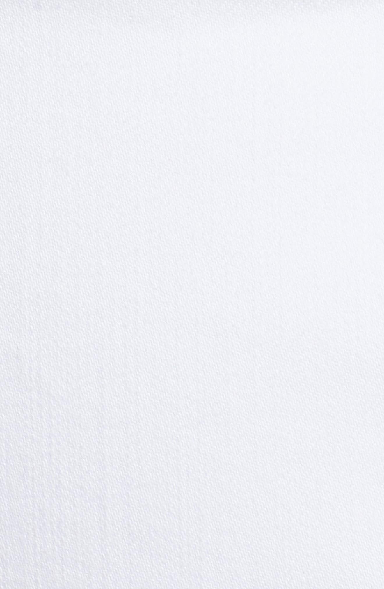 WIT & WISDOM, Ab-Solution White Denim Shorts, Alternate thumbnail 6, color, OPTIC WHITE