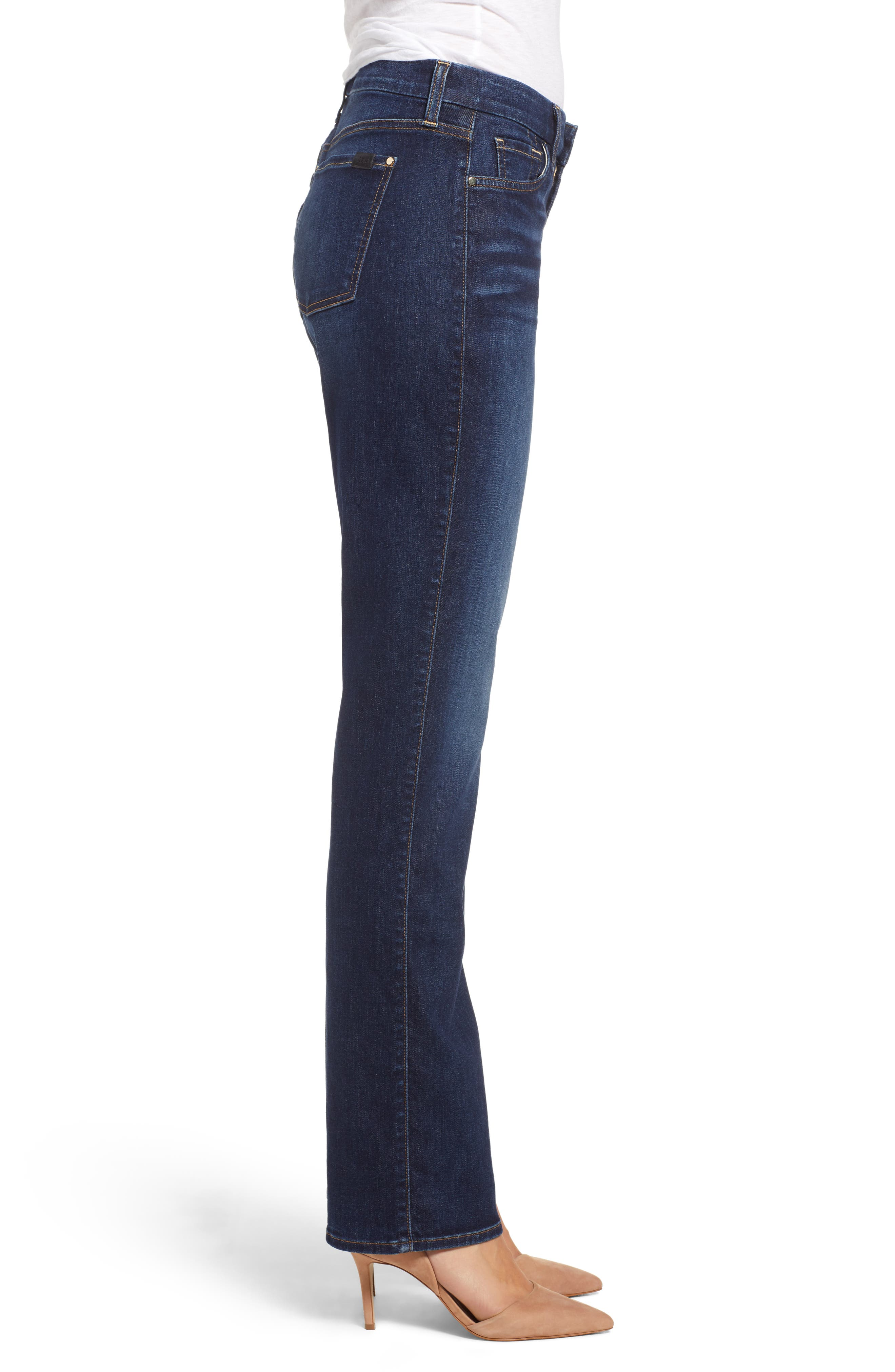 JEN7 BY 7 FOR ALL MANKIND, Stretch Slim Straight Leg Jeans, Alternate thumbnail 4, color, 400