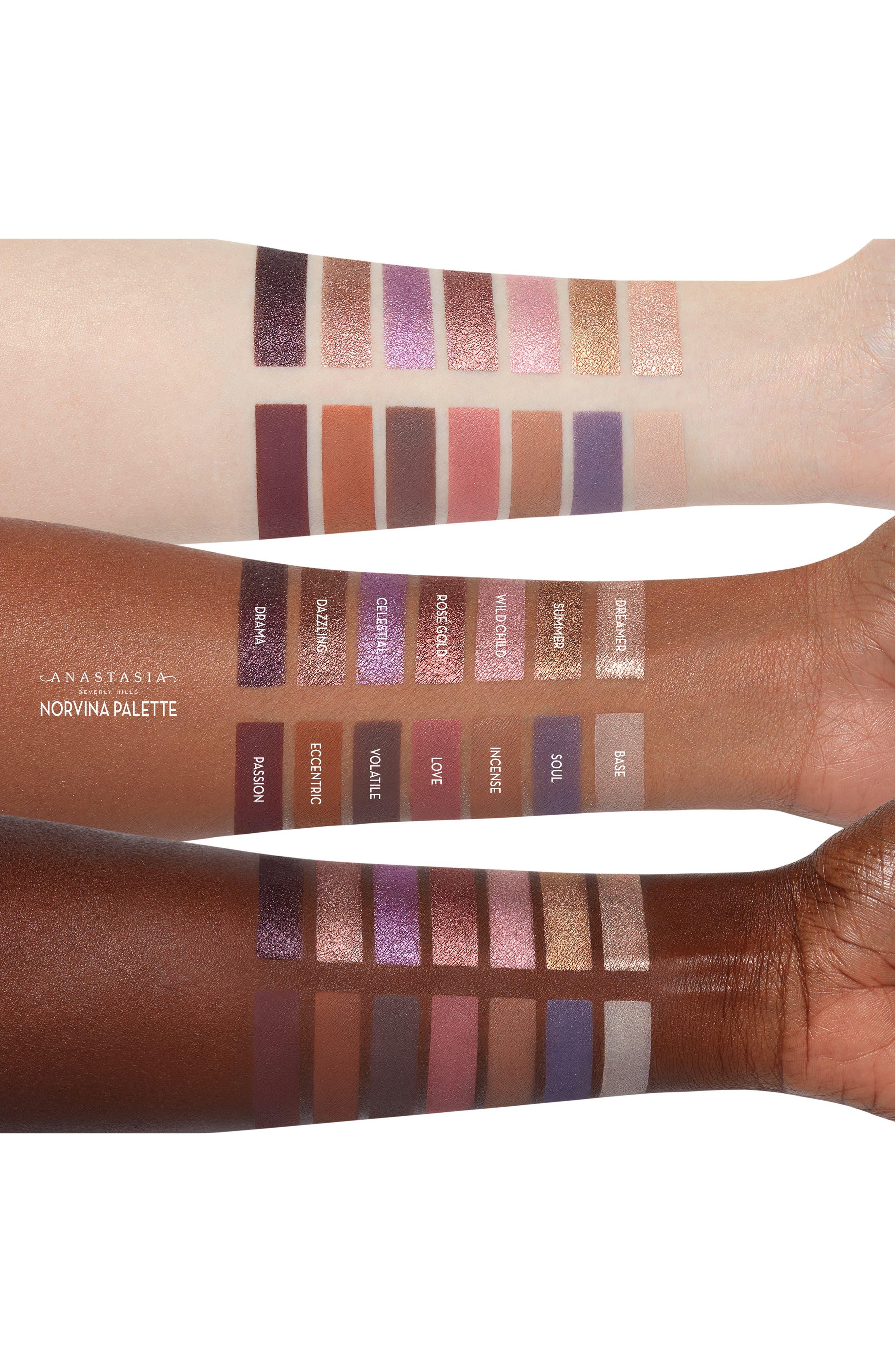 ANASTASIA BEVERLY HILLS, Norvina Eyeshadow Palette, Alternate thumbnail 2, color, NO COLOR