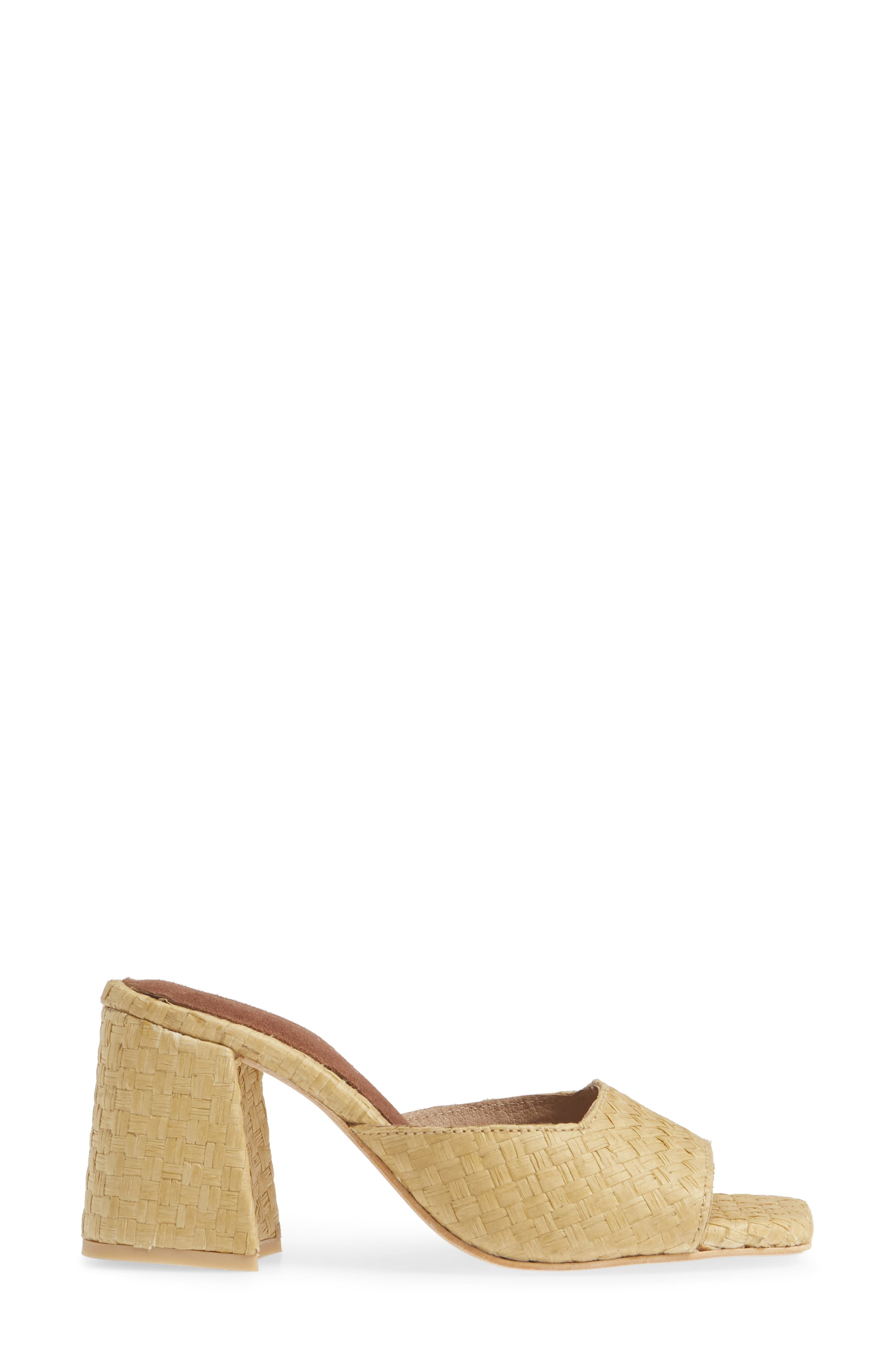 JEFFREY CAMPBELL, Mélange Raffia Slide Sandal, Alternate thumbnail 3, color, 200