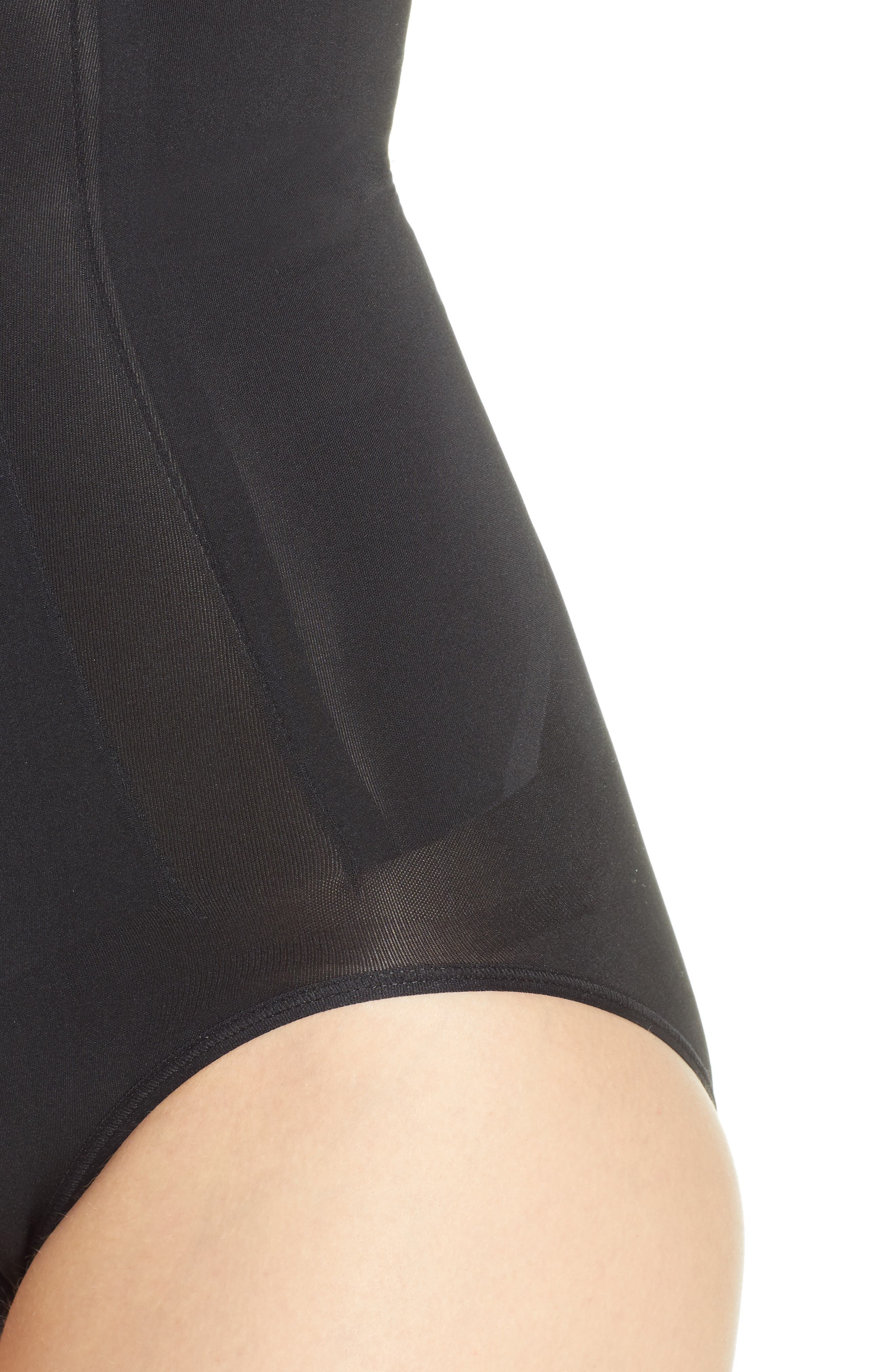 SPANX<SUP>®</SUP>, OnCore High Waist Shaping Briefs, Alternate thumbnail 4, color, BLACK