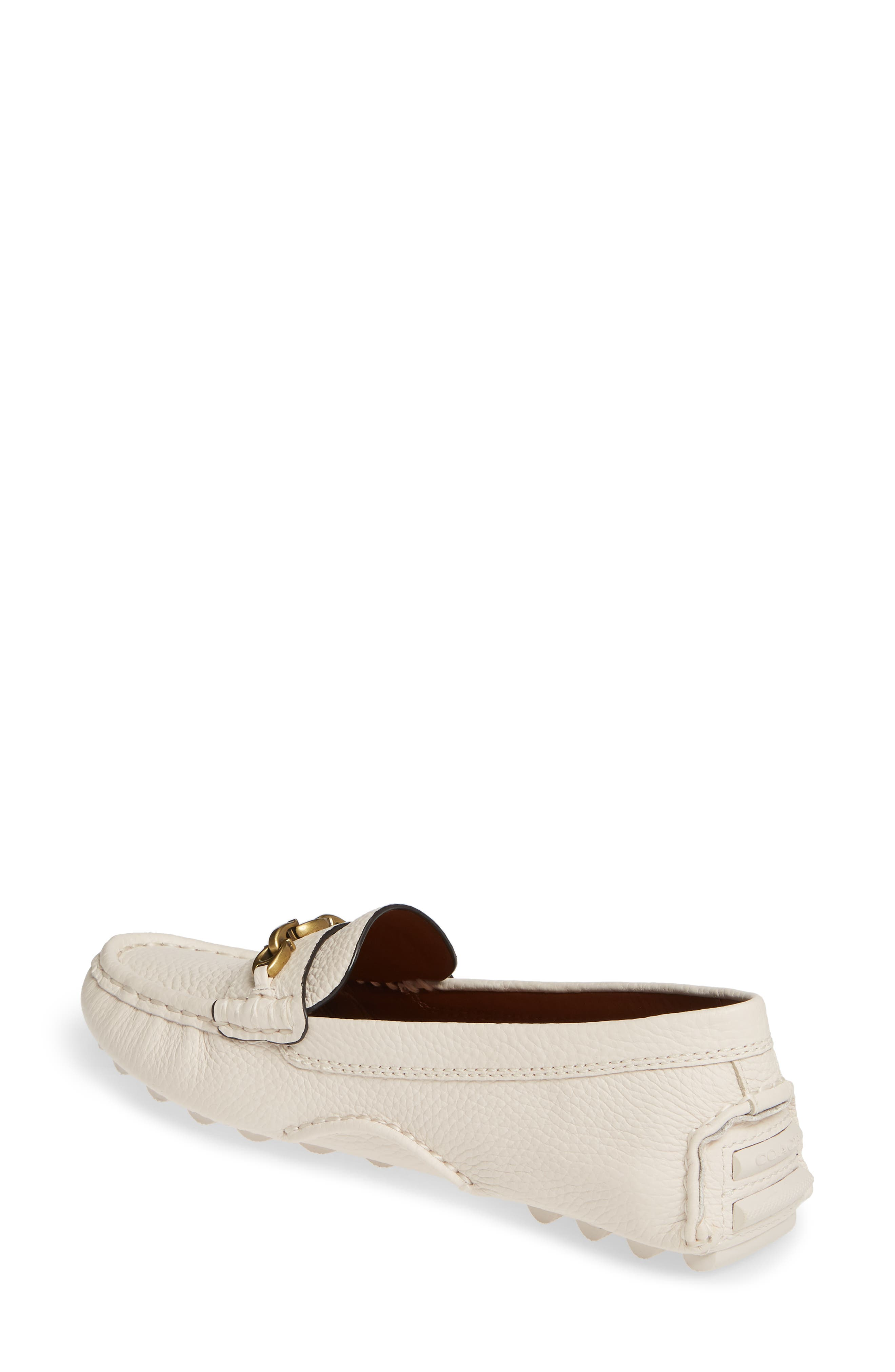 COACH, Crosby Driver Loafer, Alternate thumbnail 2, color, CHALK LEATHER