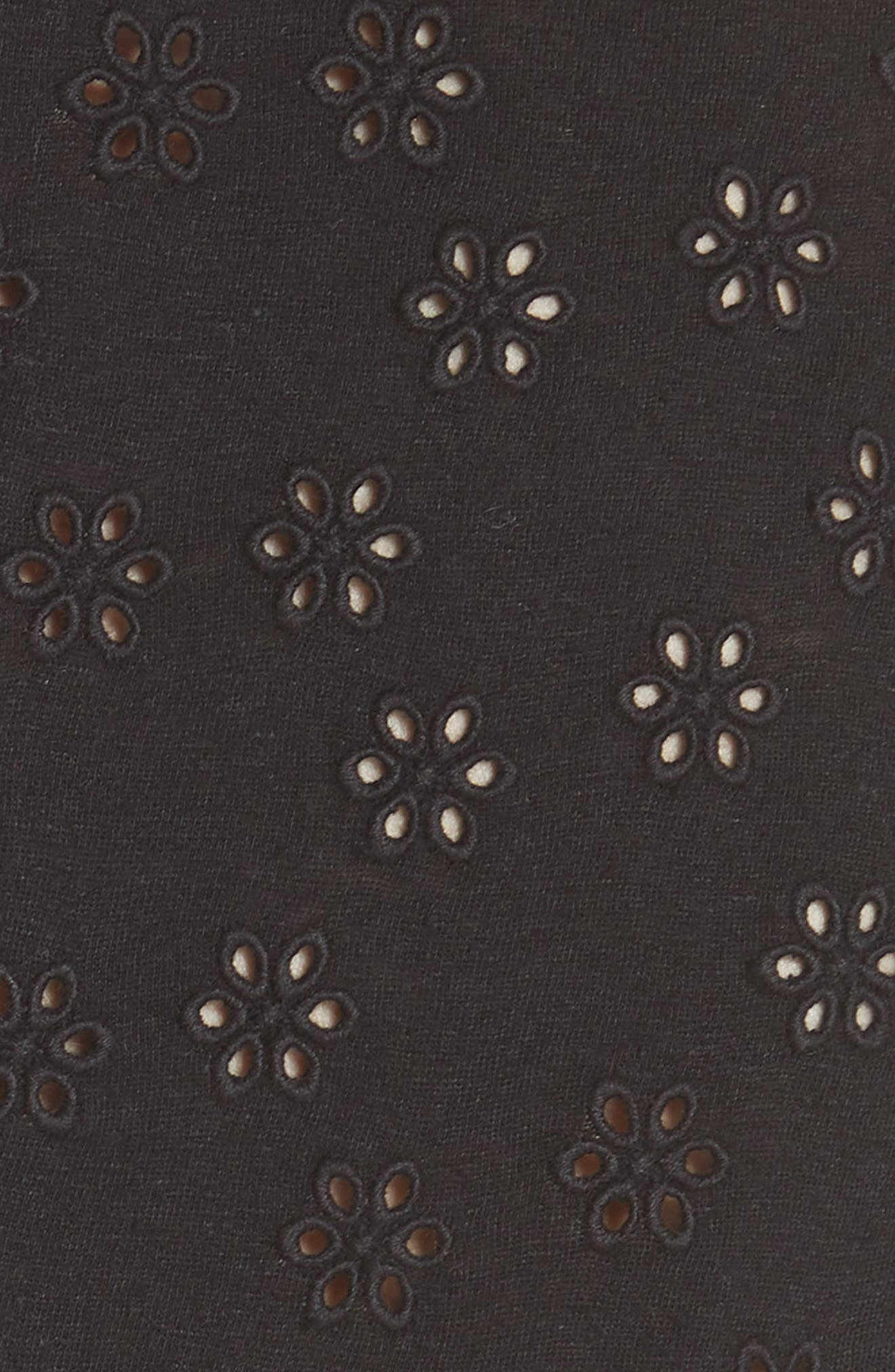 LA VIE REBECCA TAYLOR, Linen Cotton Eyelet Tank Top, Alternate thumbnail 5, color, 001