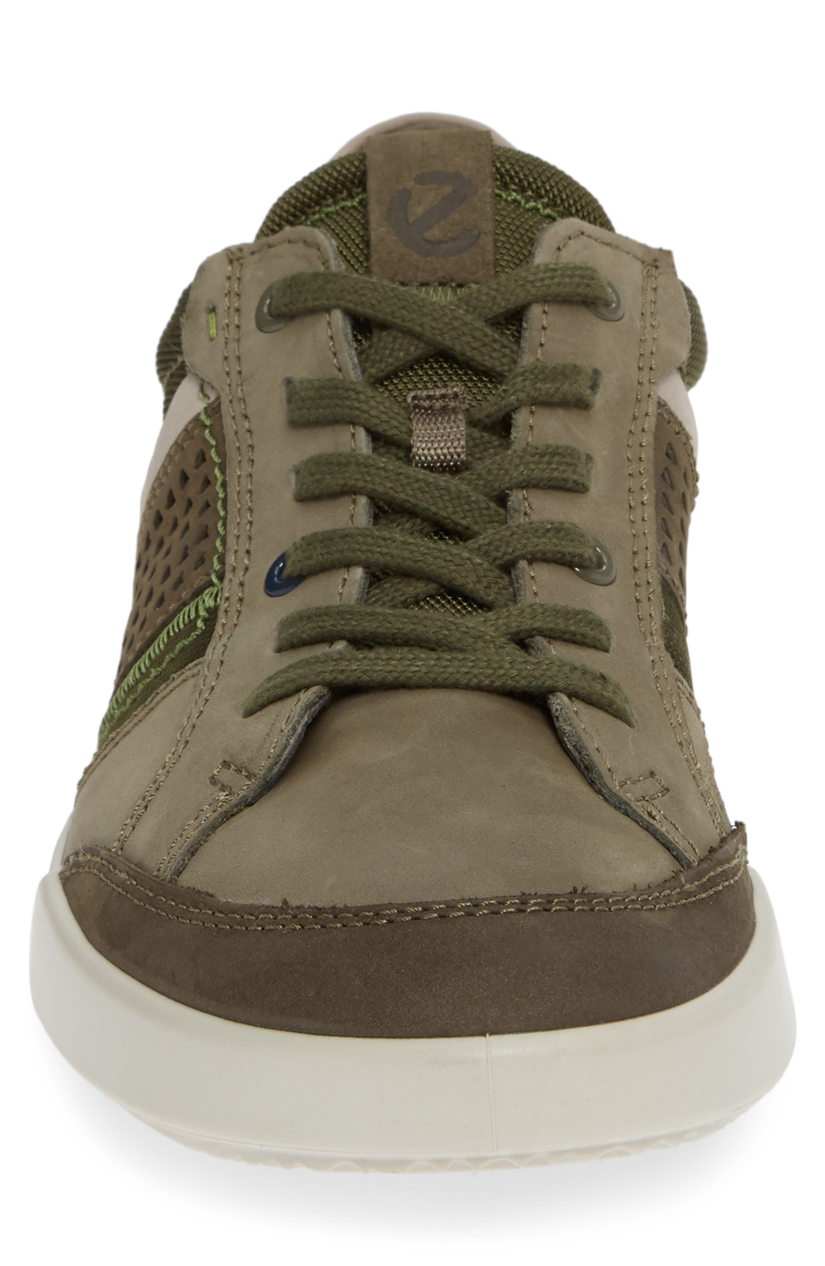 ECCO, Collin 2.0 Sneaker, Alternate thumbnail 4, color, TARMAC LEATHER