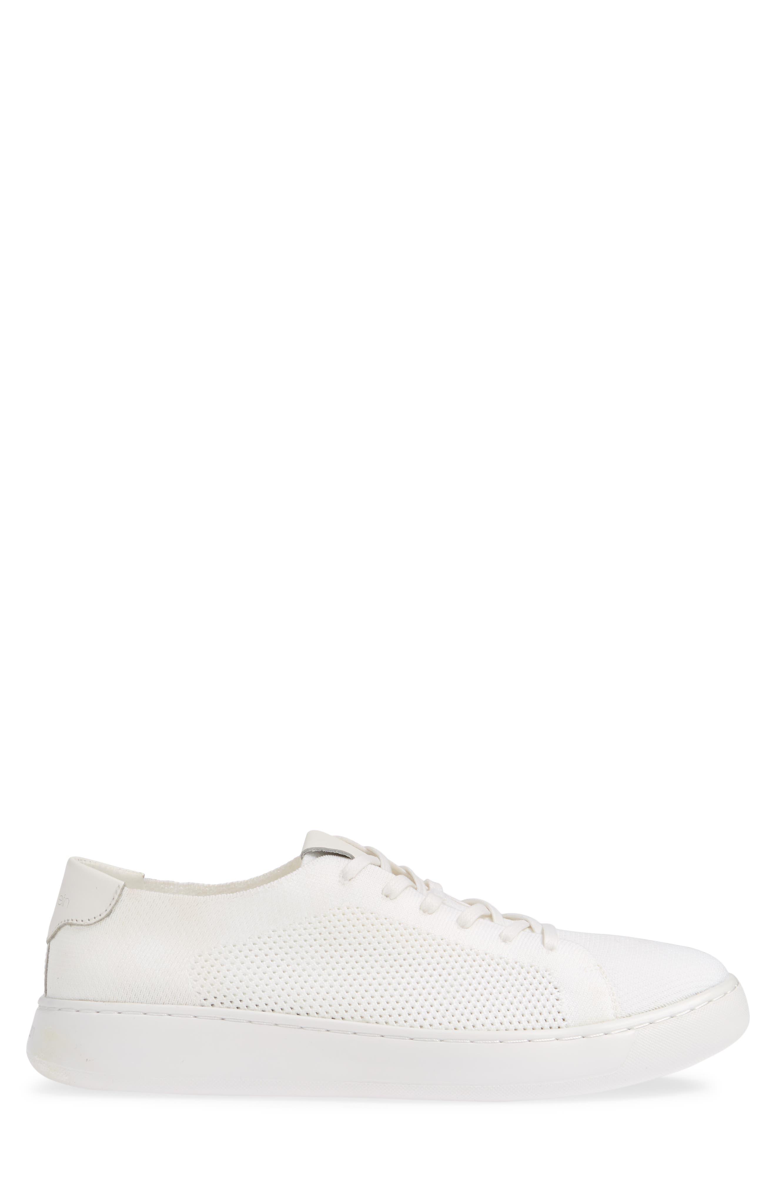 CALVIN KLEIN, Freeport Sneaker, Alternate thumbnail 3, color, WHITE