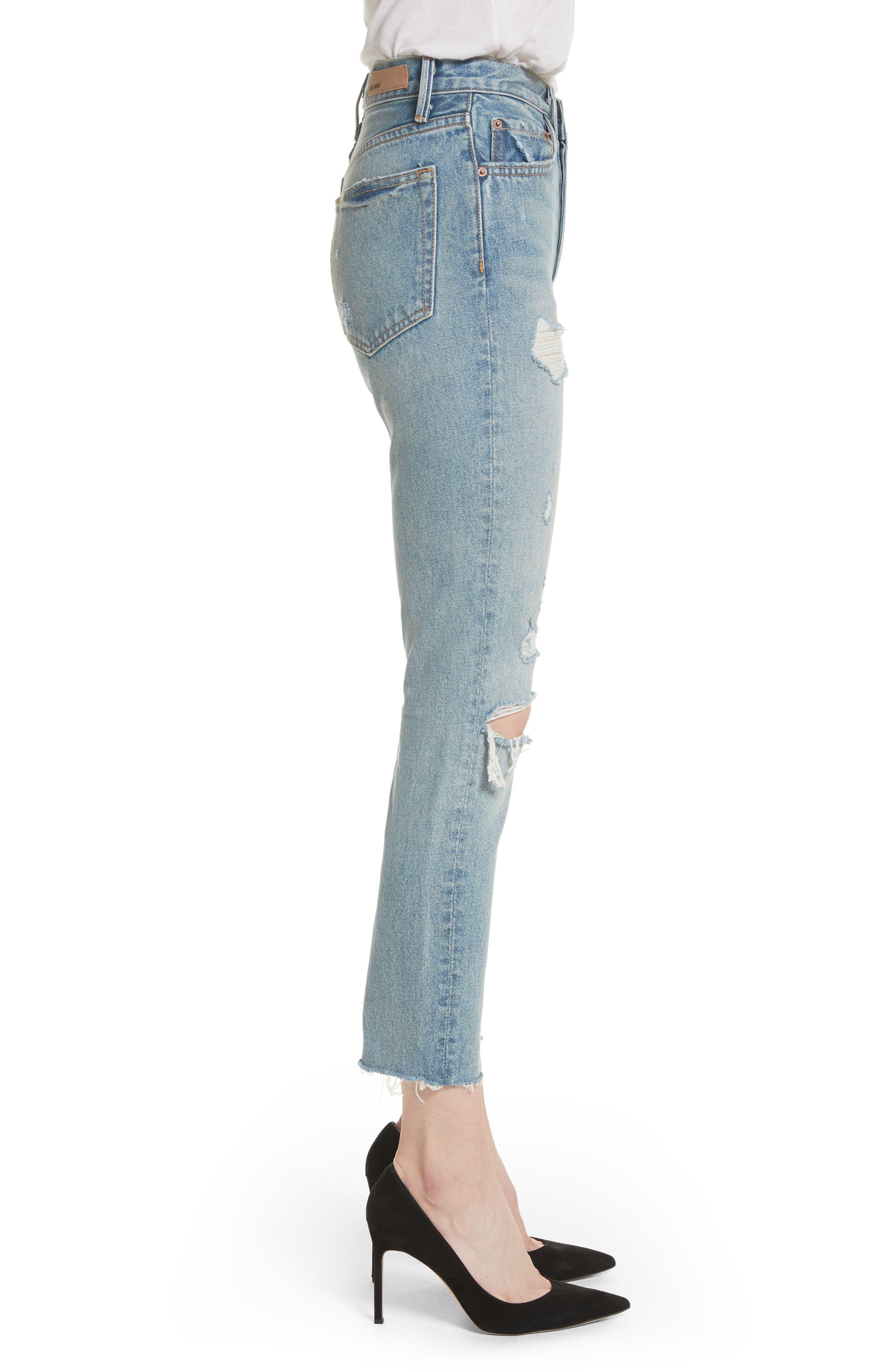GRLFRND, Karolina Rigid High Waist Skinny Jeans, Alternate thumbnail 4, color, A LITTLE MORE LOVE