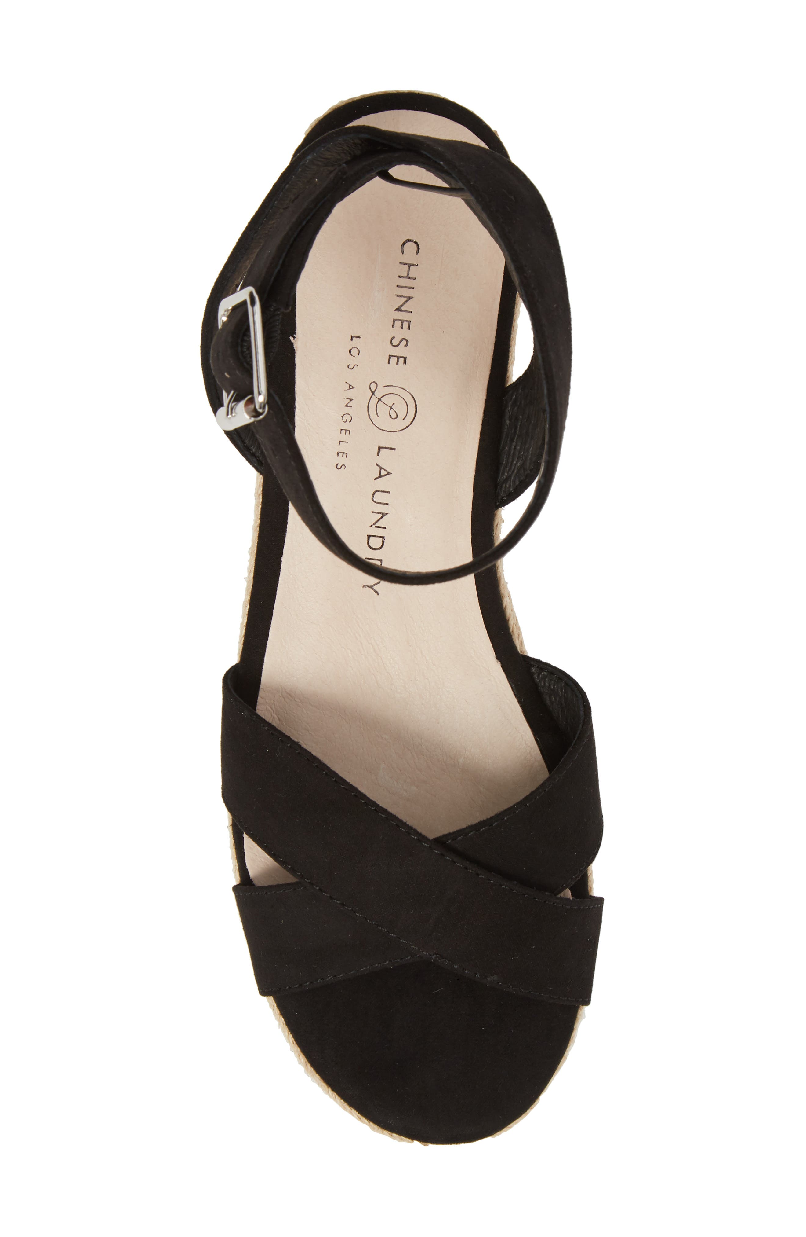 CHINESE LAUNDRY, Zala Espadrille Platform Sandal, Alternate thumbnail 5, color, BLACK