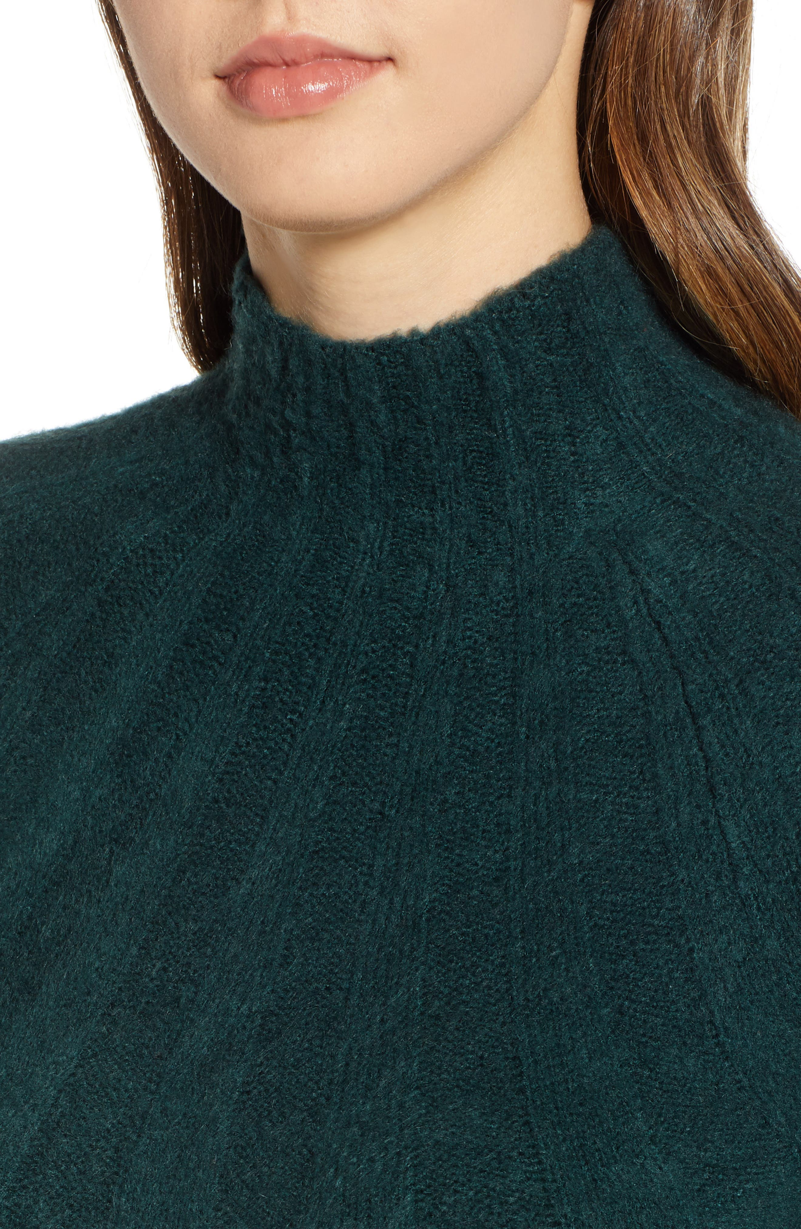 4SI3NNA, Wide Rib Sweater Dress, Alternate thumbnail 5, color, 300