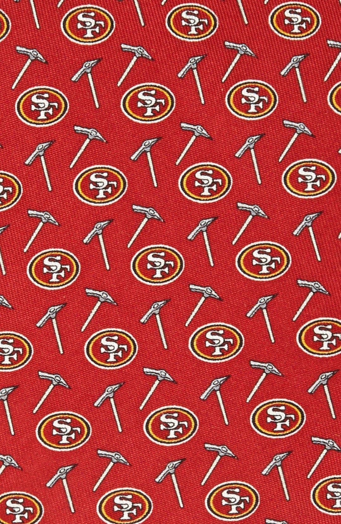 VINEYARD VINES, San Francisco 49ers Print Tie, Alternate thumbnail 2, color, RED