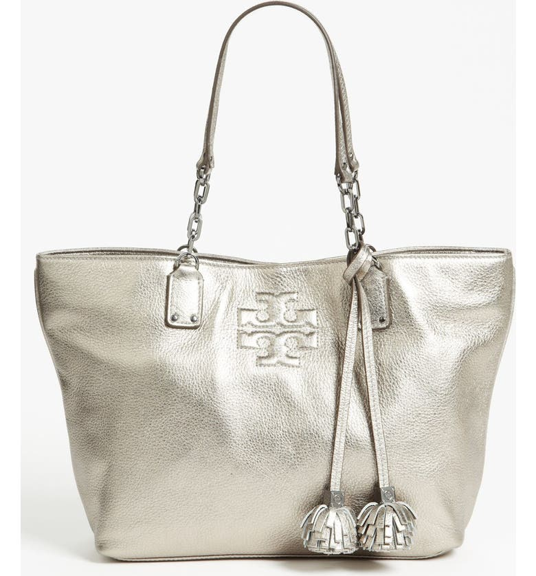 327fc2693df TORY BURCH 'Thea Metallic - Small' Leather Tote, Main, color, ...