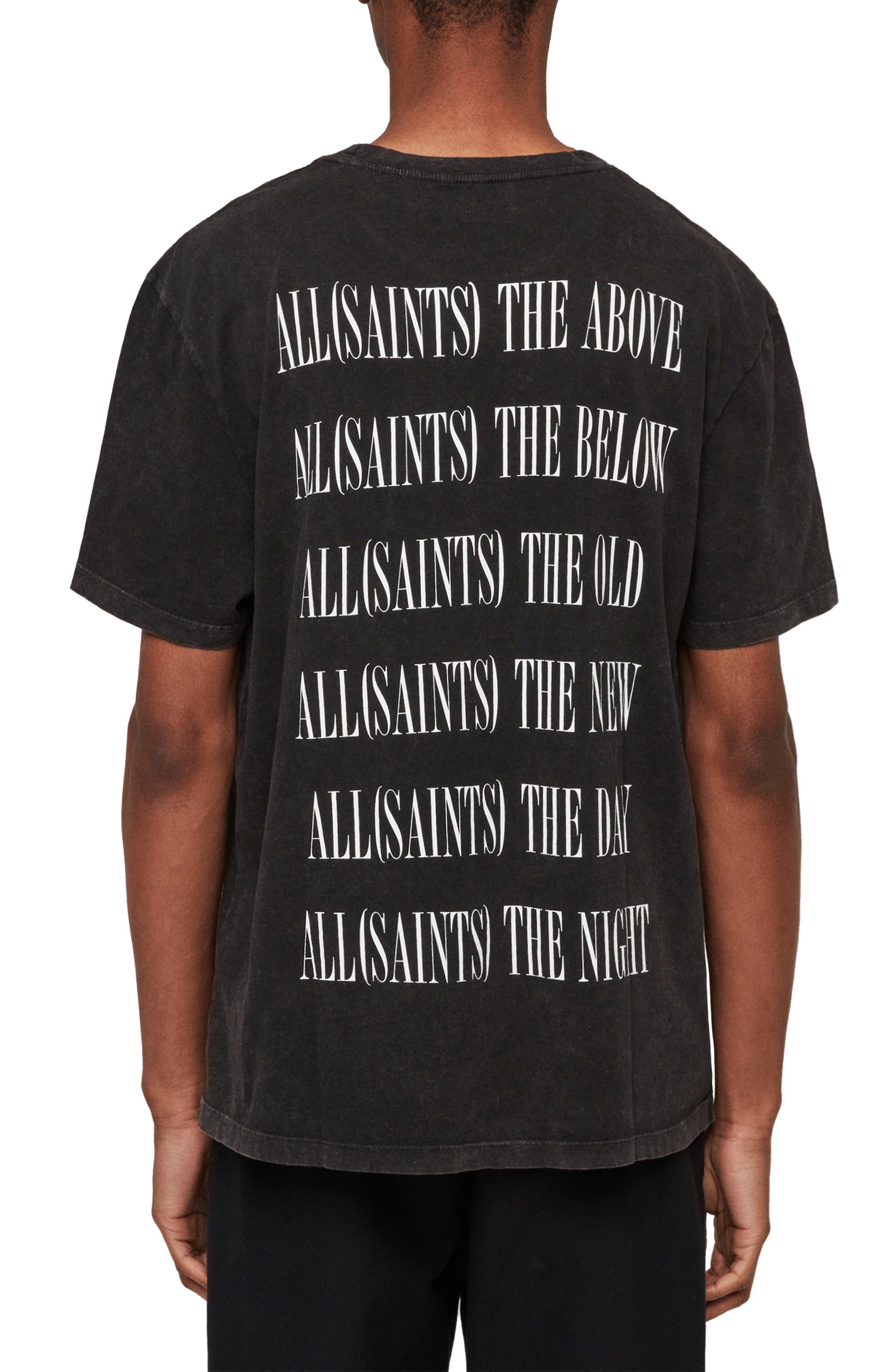 ALLSAINTS, Brackets Classic Fit Crewneck T-Shirt, Alternate thumbnail 2, color, ACID WASHED BLACK