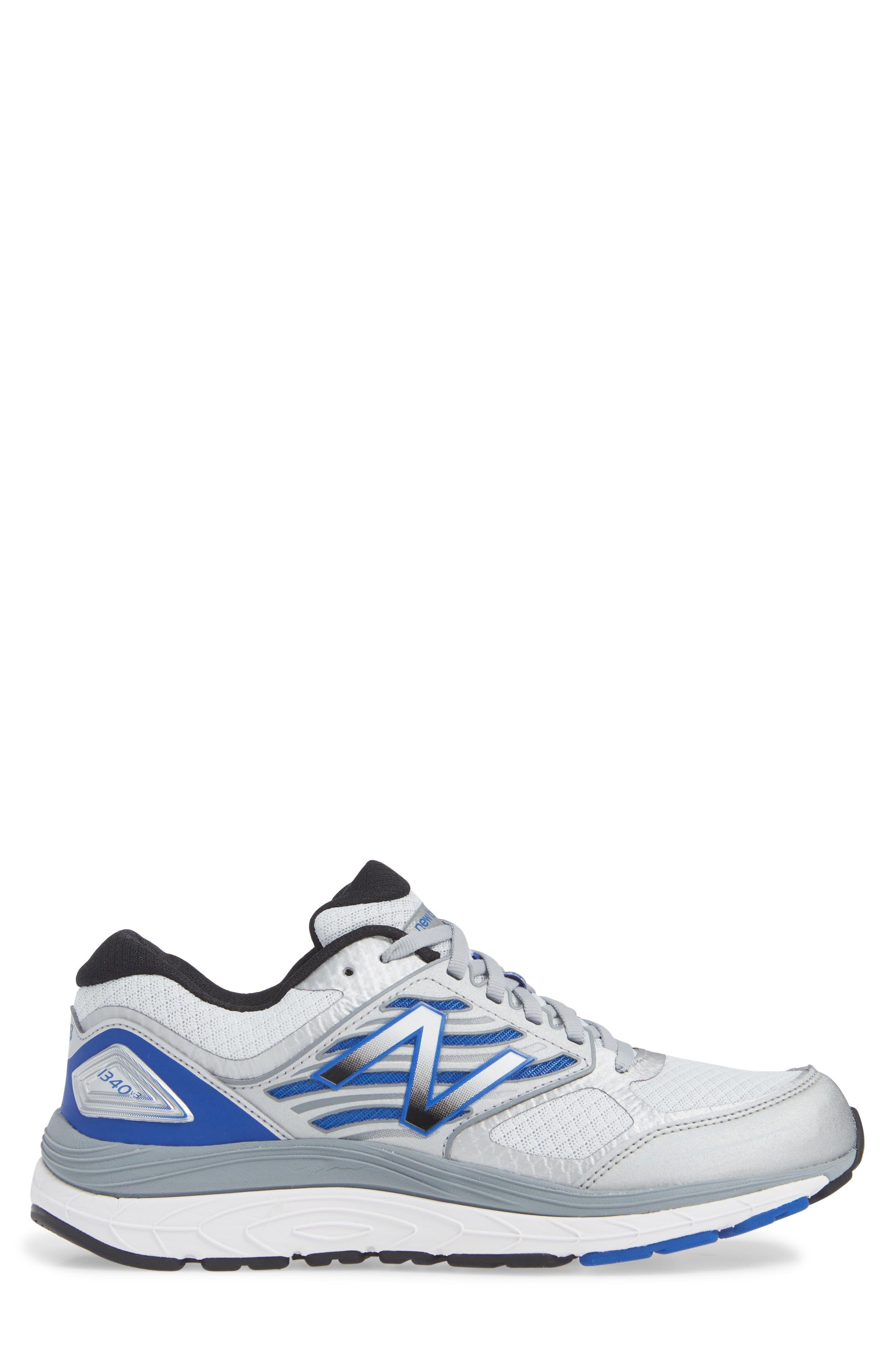 NEW BALANCE, 1340v3 Running Shoe, Alternate thumbnail 3, color, WHITE