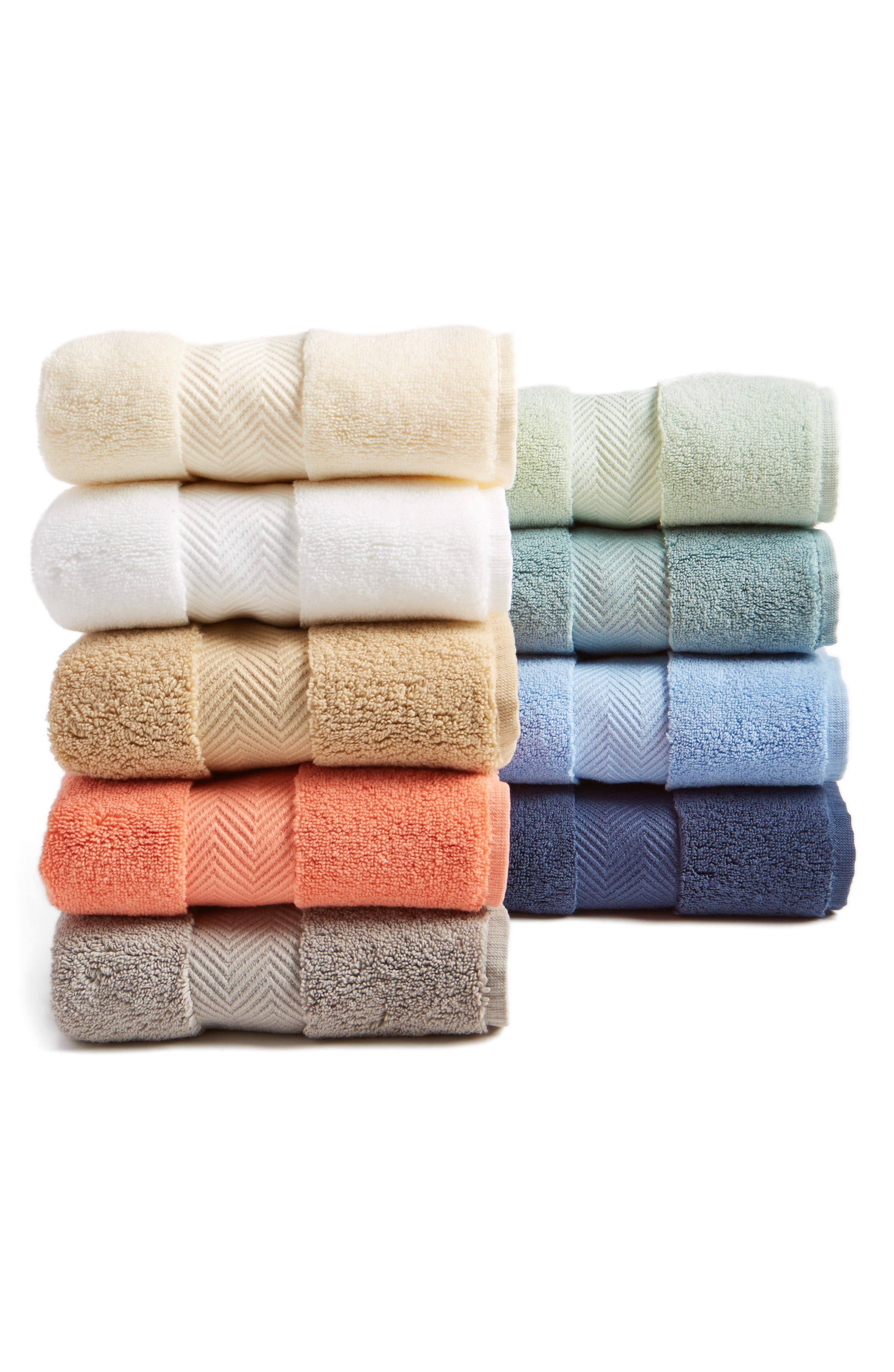 NORDSTROM AT HOME, Hydrocotton Washcloth, Alternate thumbnail 2, color, WHITE