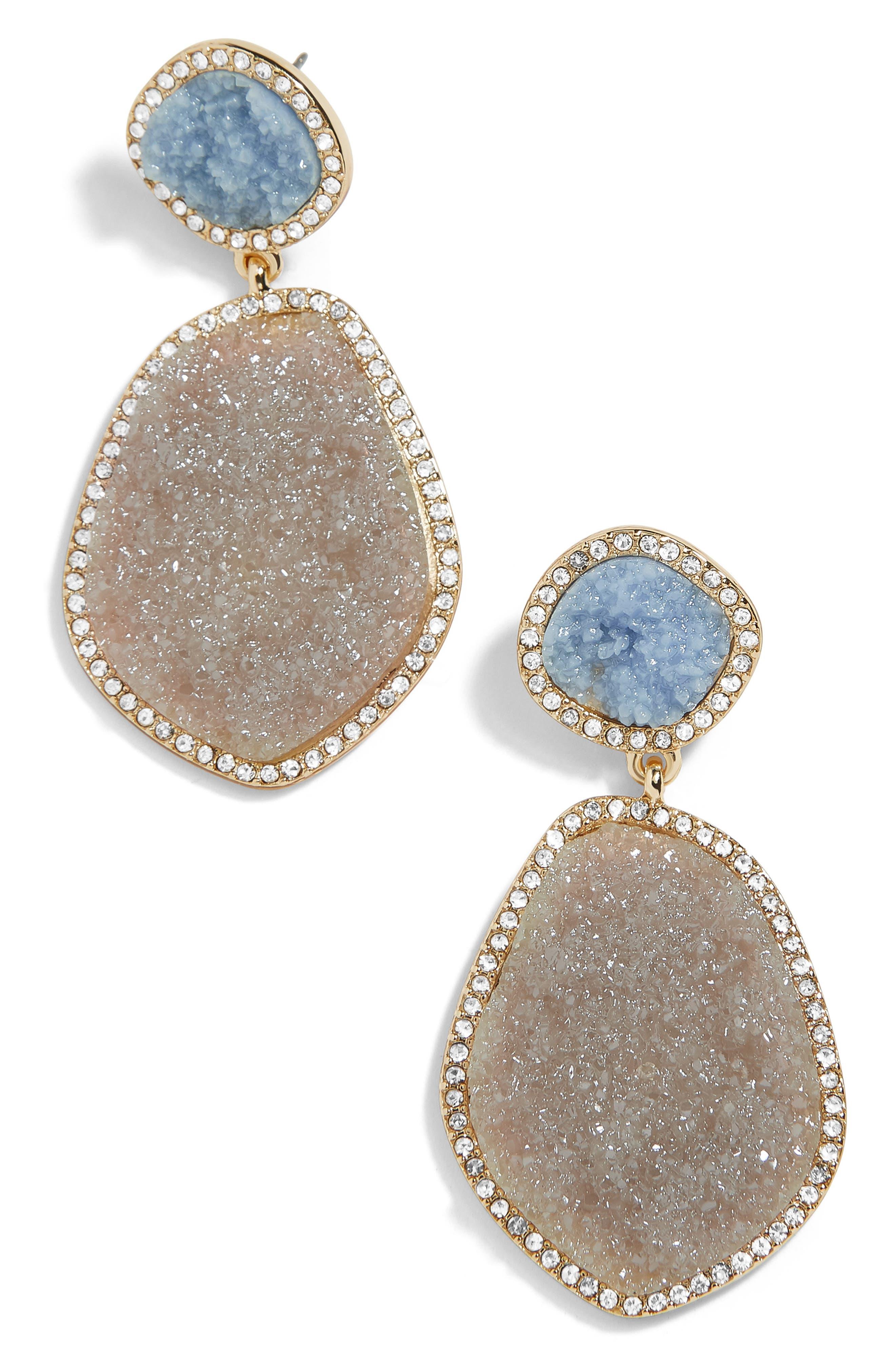 BAUBLEBAR Vina Drop Earrings, Main, color, GREY