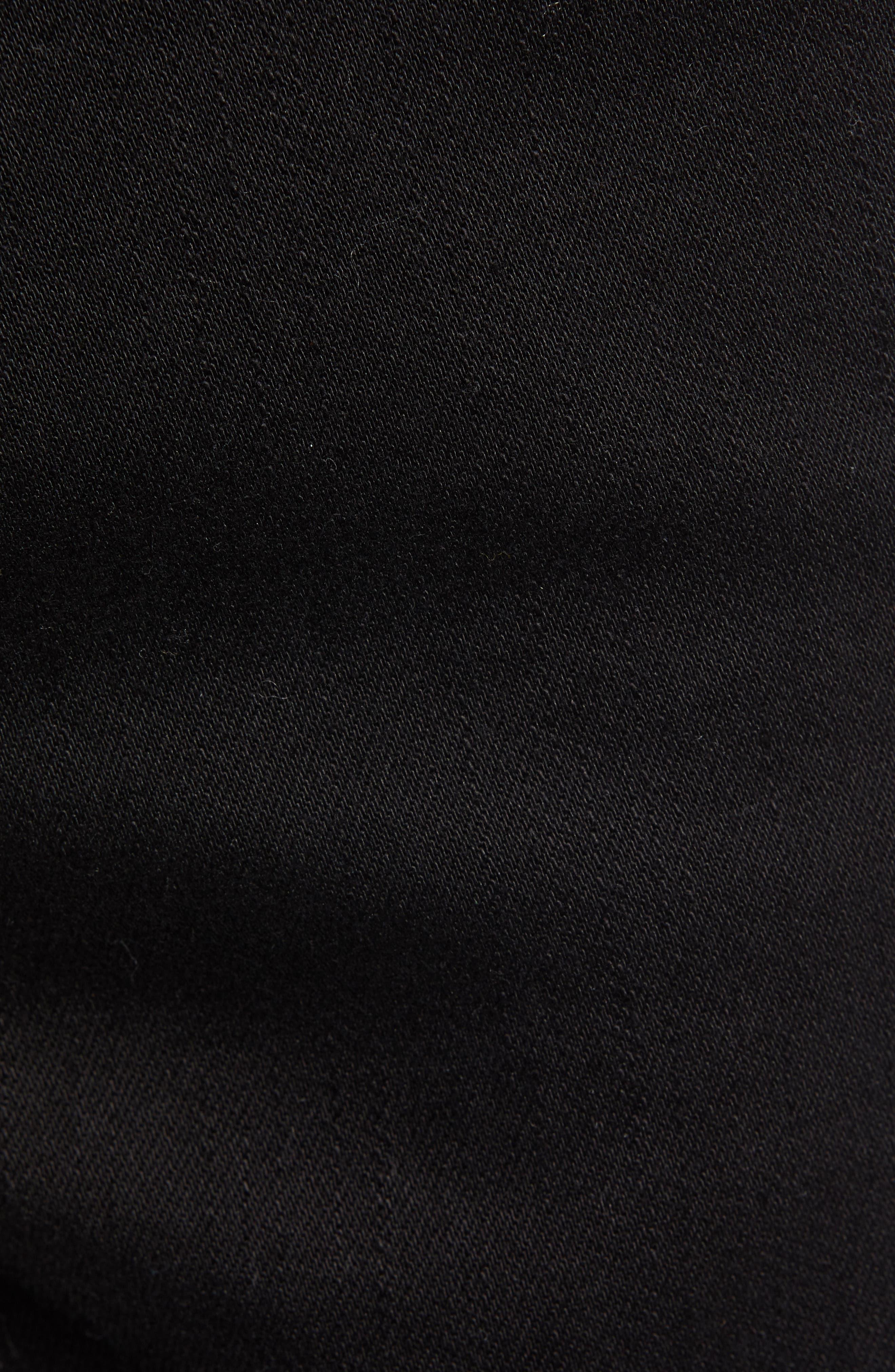 THE RAIL, Skinny Moto Jeans, Alternate thumbnail 6, color, BLACK WASH