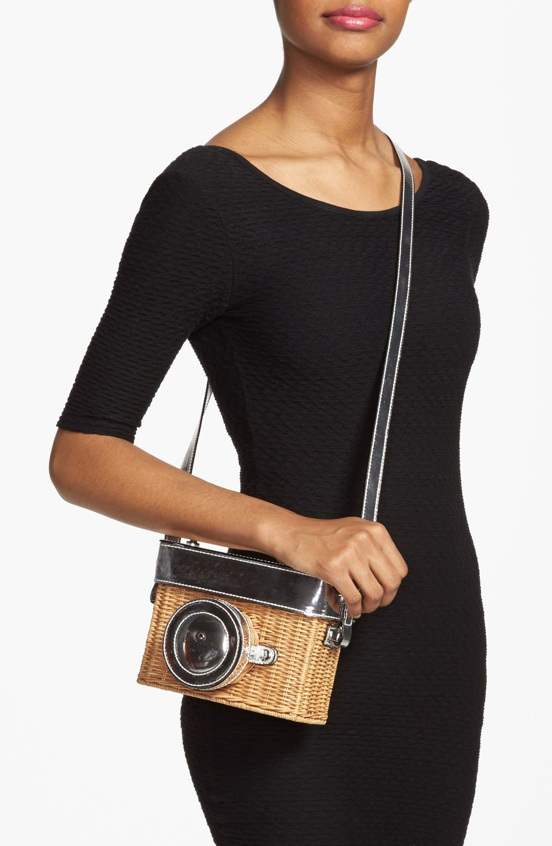 KATE SPADE NEW YORK, 'grand tour' wicker camera shoulder bag, Alternate thumbnail 2, color, 250