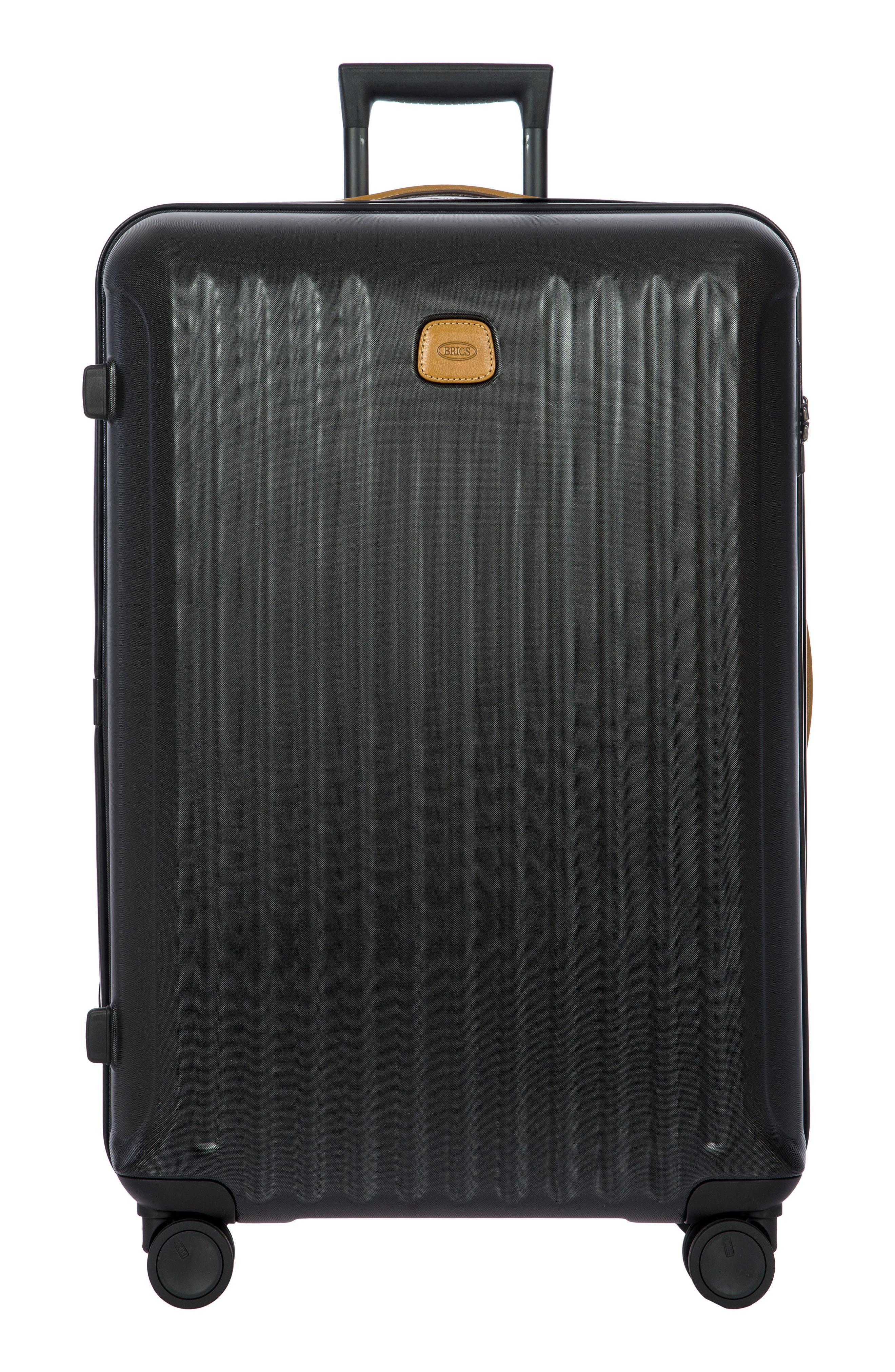 BRIC'S, Capri 32-Inch Spinner Suitcase, Main thumbnail 1, color, MATTE BLACK