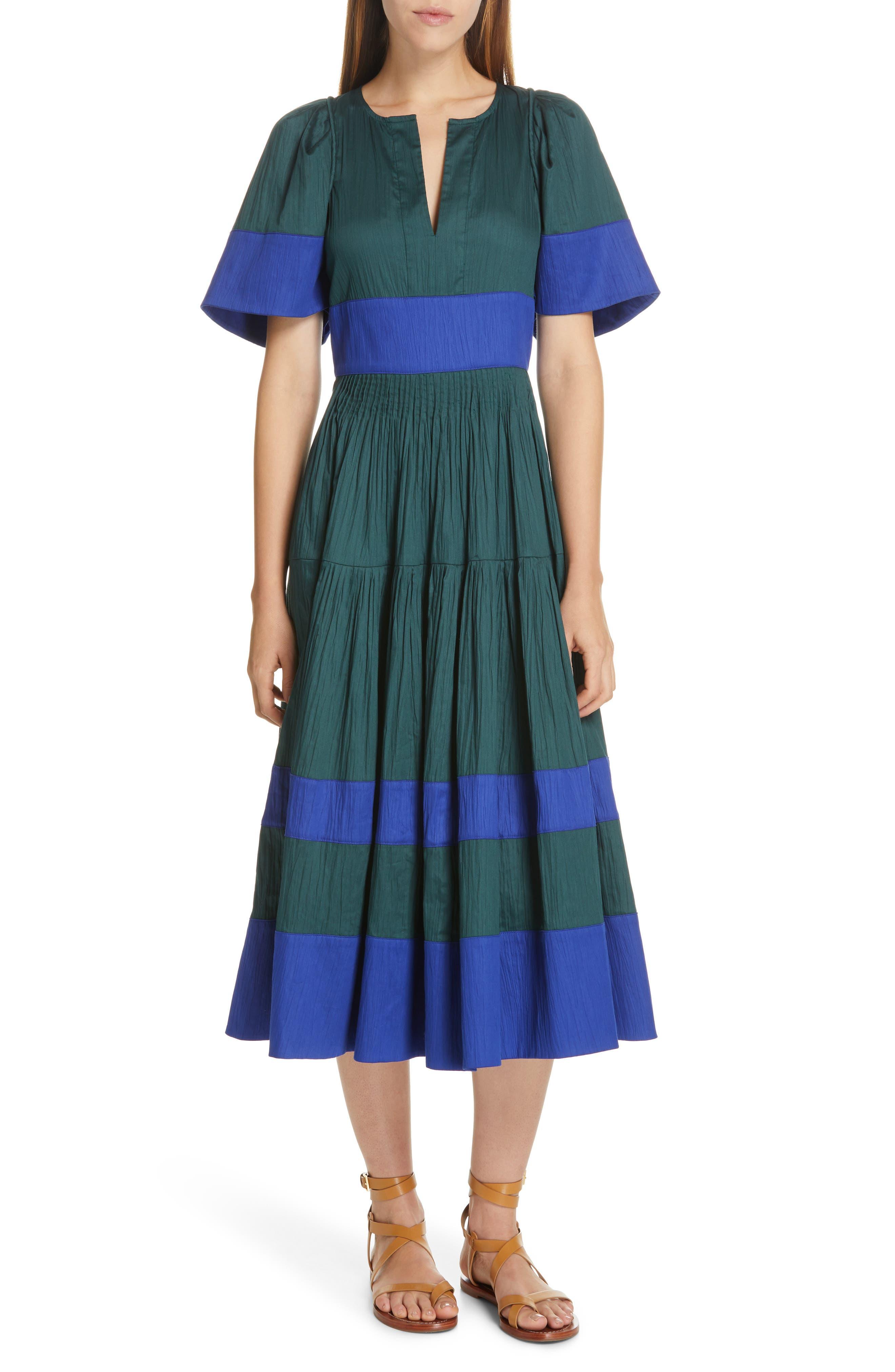 Sea Cora Stripe Midi Dress, Blue