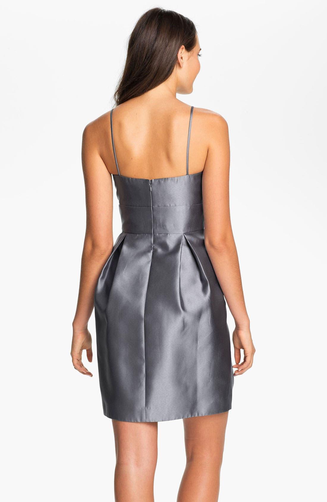 ELIZA J, Sweetheart Neckline Taffeta Tulip Dress, Alternate thumbnail 2, color, 040
