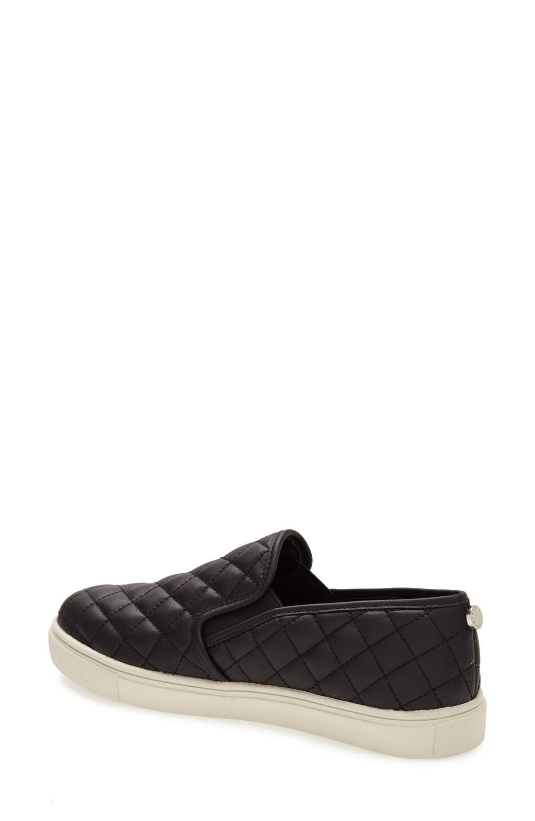 STEVE MADDEN, Ecentrcq Sneaker, Alternate thumbnail 3, color, BLACK FAUX LEATHER