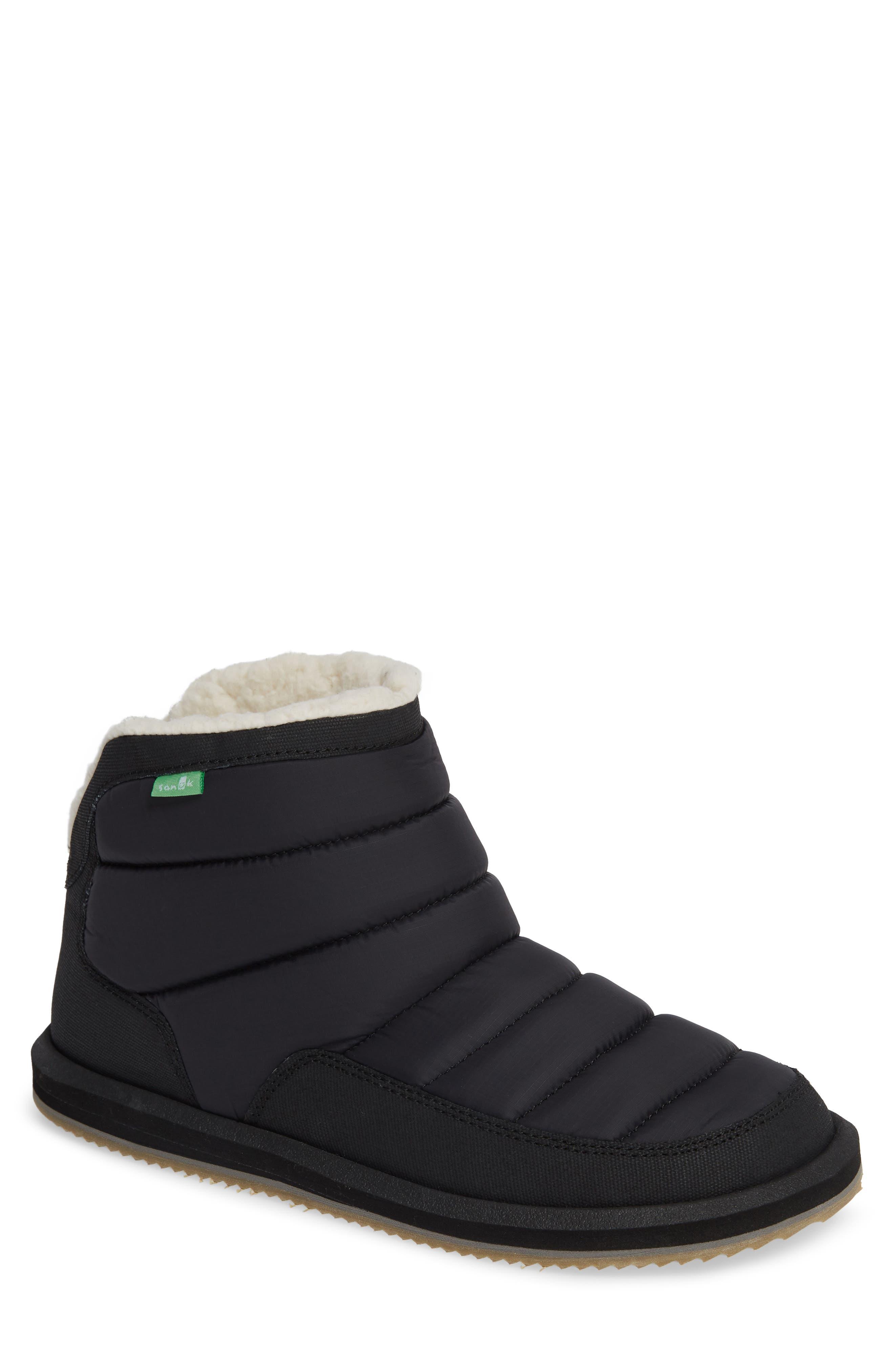 Sanuk Puff & Chill Weather Boot, Black