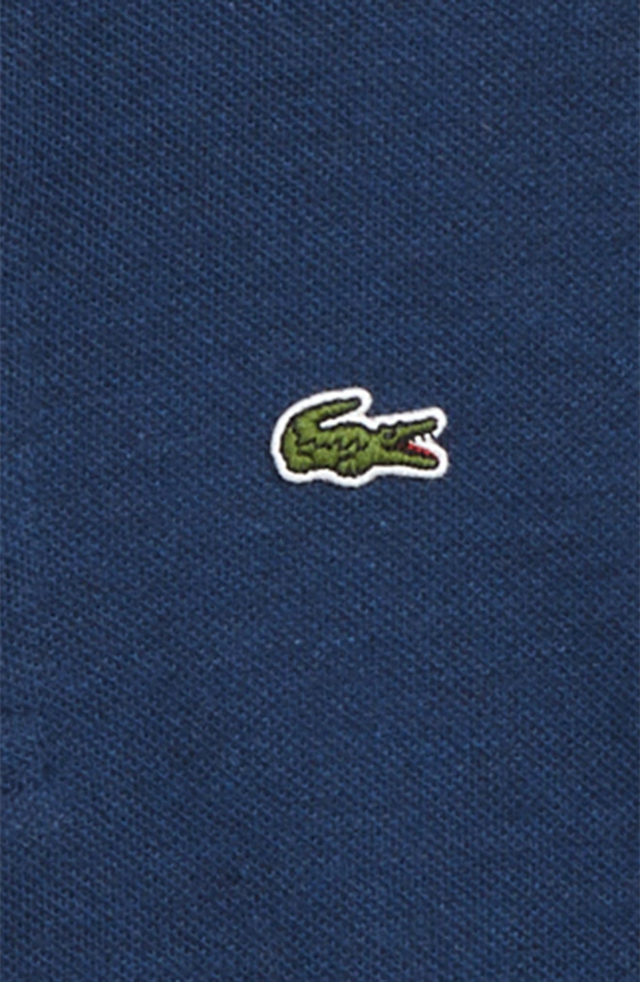 LACOSTE, Cotton Piqué Polo Hoodie, Alternate thumbnail 2, color, 020