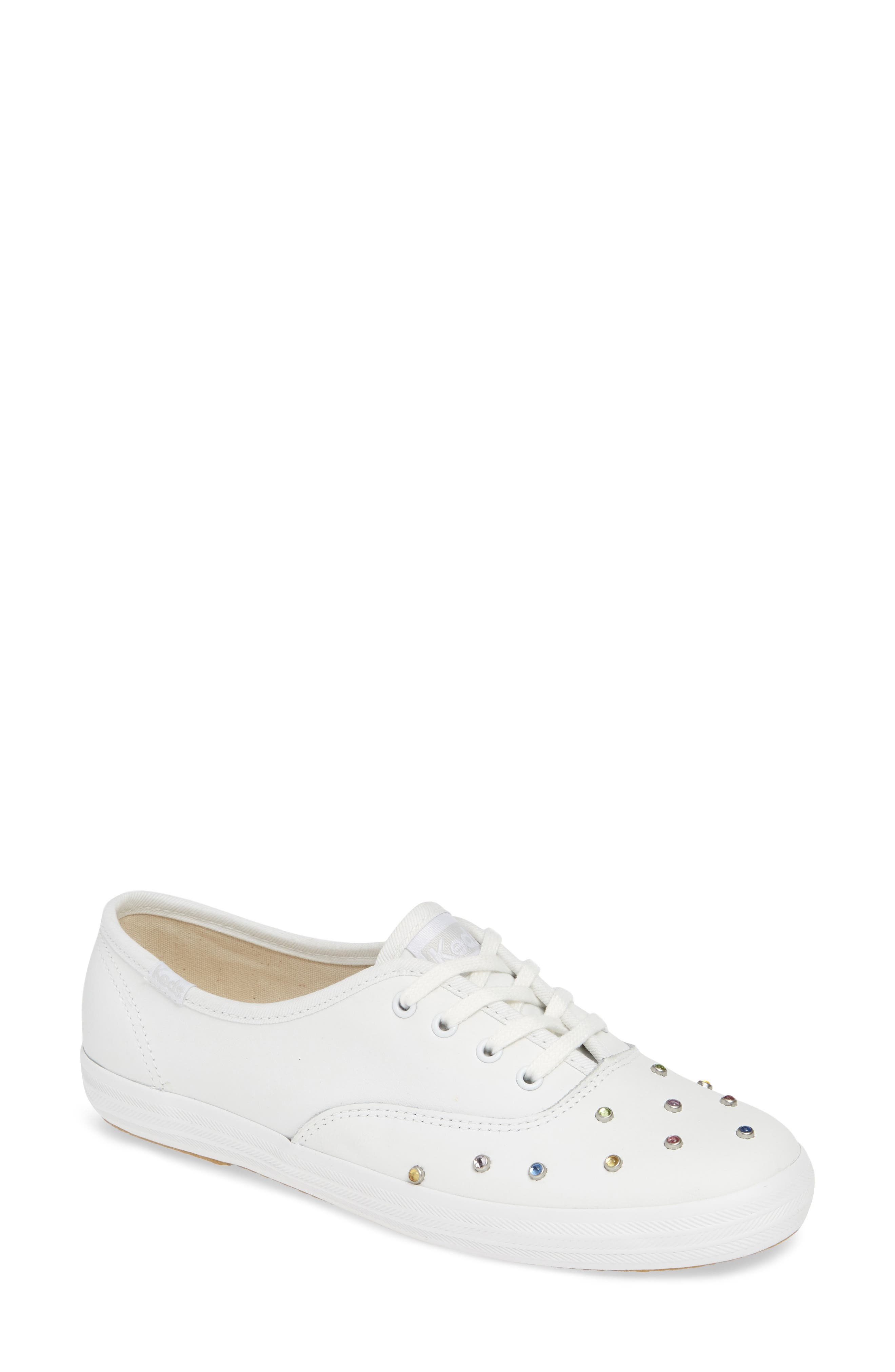 KEDS<SUP>®</SUP> Champion Starlight Stud Sneaker, Main, color, WHITE