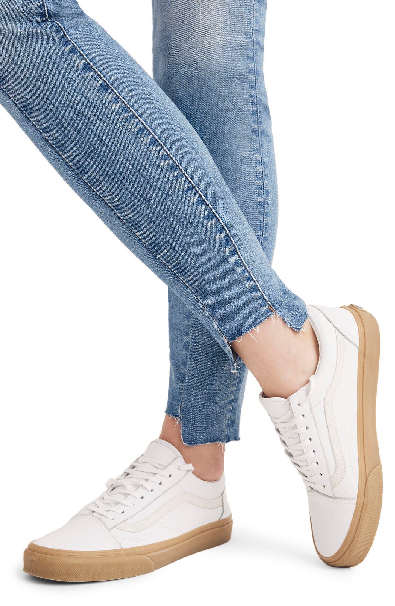 MADEWELL, 9-Inch High Waist Seamed Step-Hem Edition Skinny Jeans, Alternate thumbnail 7, color, 400