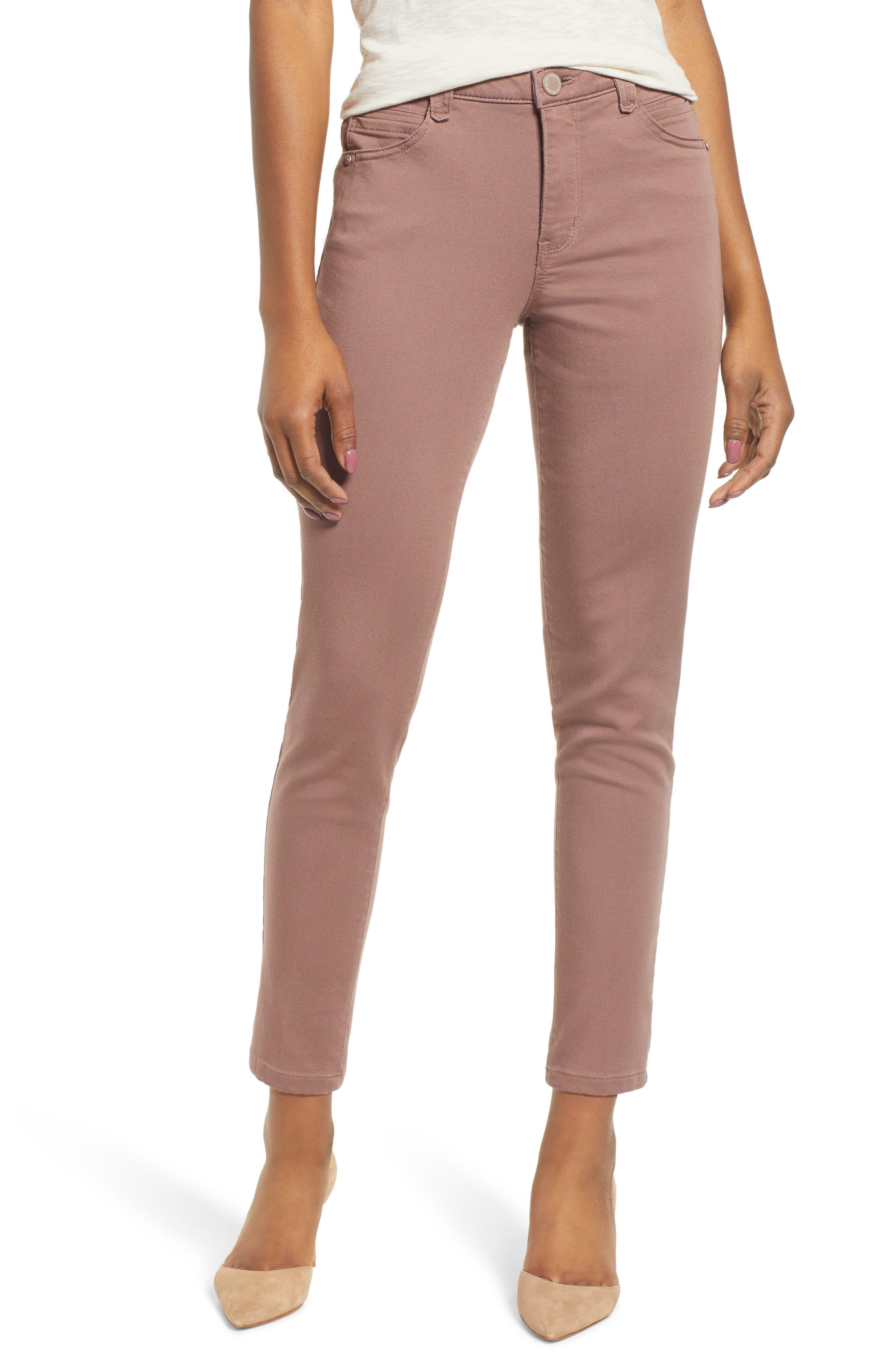 WIT & WISDOM High Rise Ab-Solution Ankle Pants, Main, color, TWILIGHT MAUVE