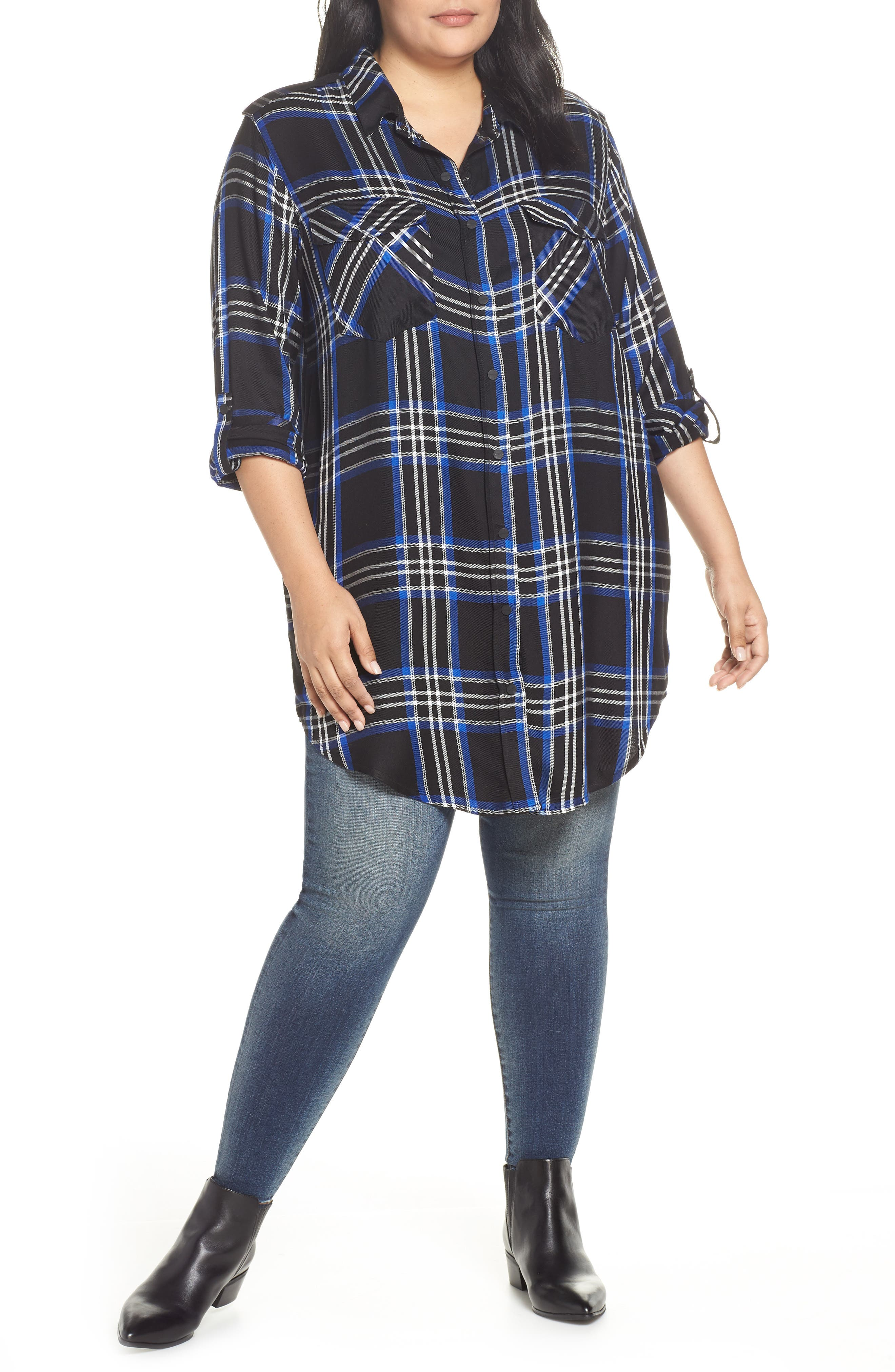 SANCTUARY Main Street Boyfriend Tunic, Main, color, 001