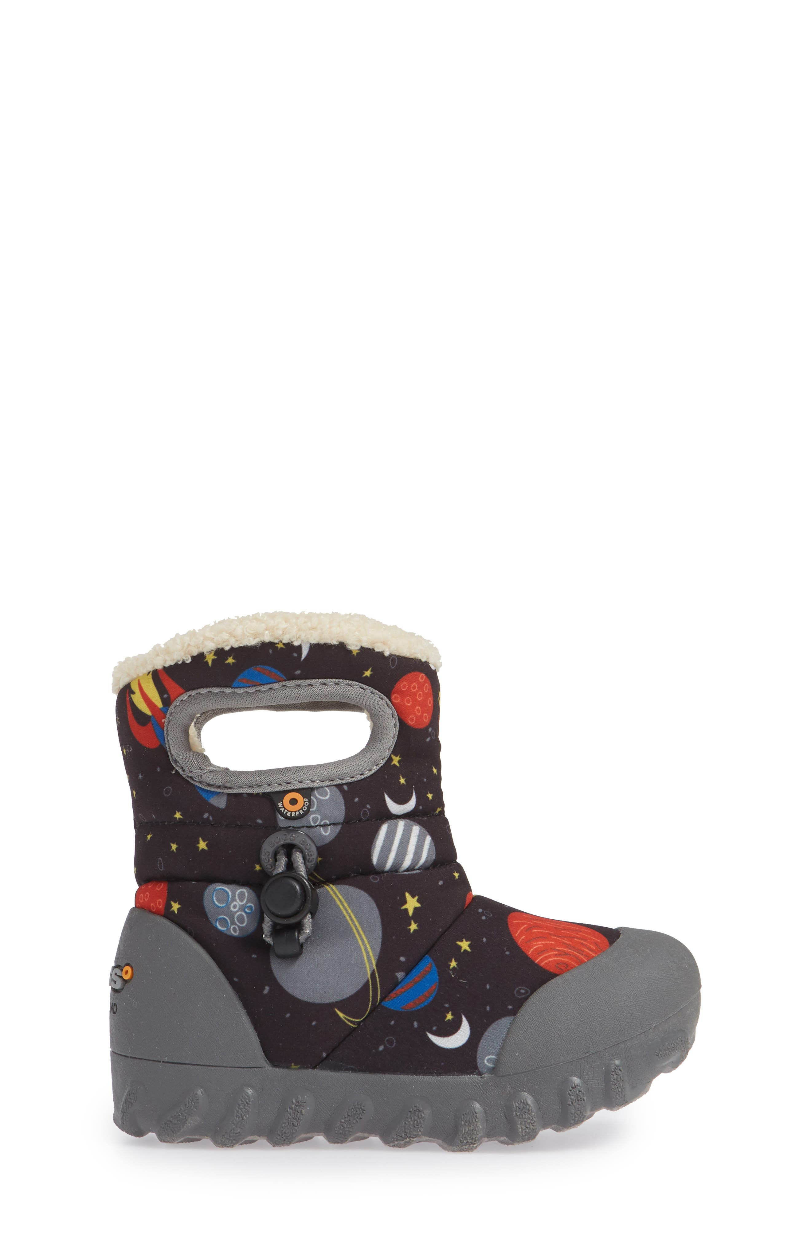 BOGS, B-MOC Space Waterproof Insulated Faux Fur Boot, Alternate thumbnail 3, color, BLACK MULTI