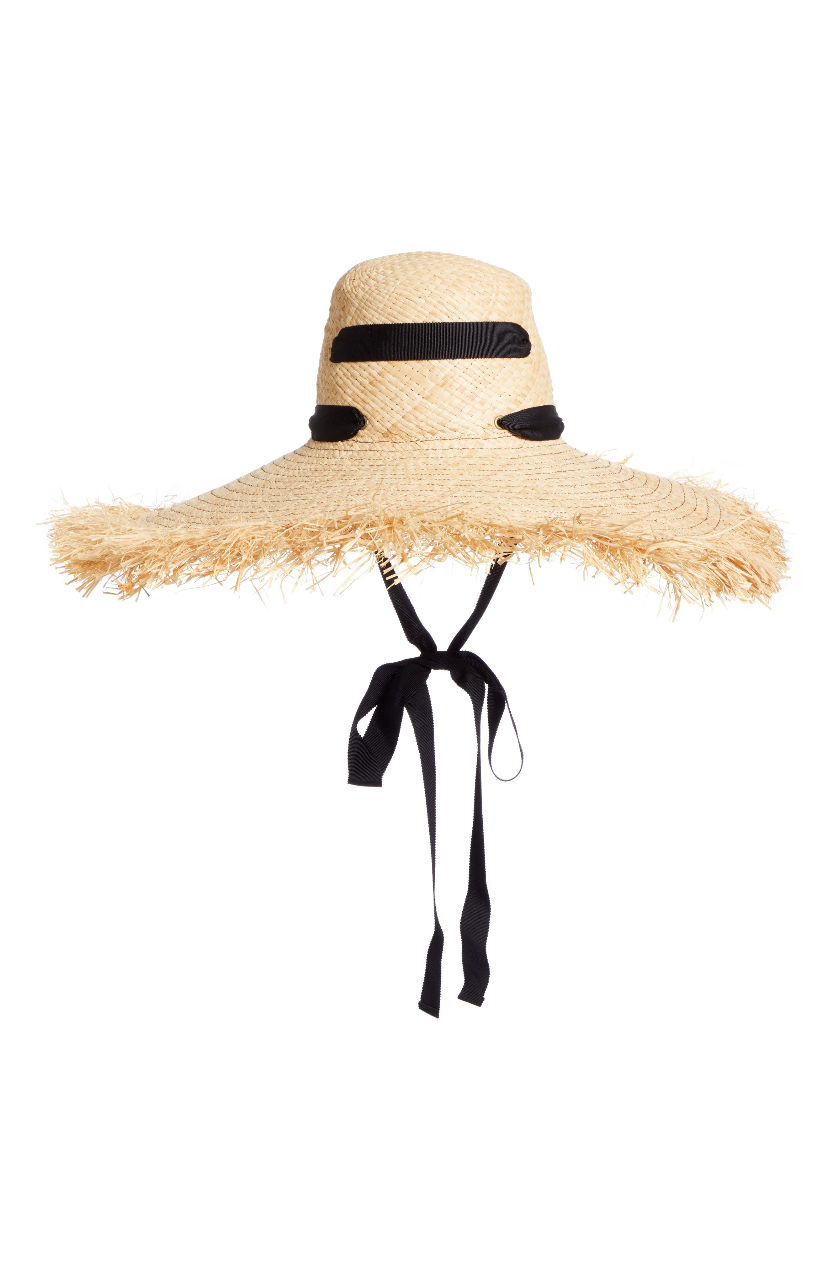 LOLA HATS, Alpargatas Straw Hat, Alternate thumbnail 3, color, NAT/ BLACK