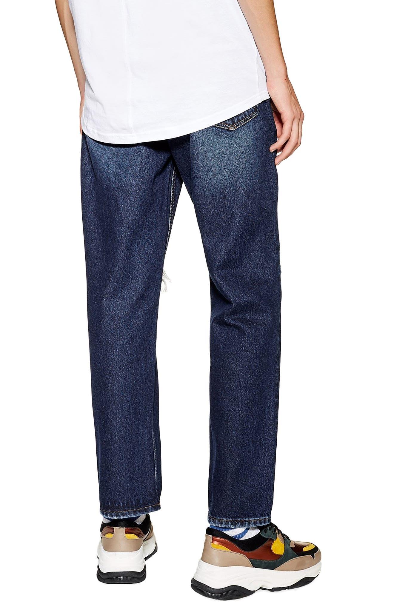 TOPMAN, Mikey Original Fit Jeans, Alternate thumbnail 2, color, 400